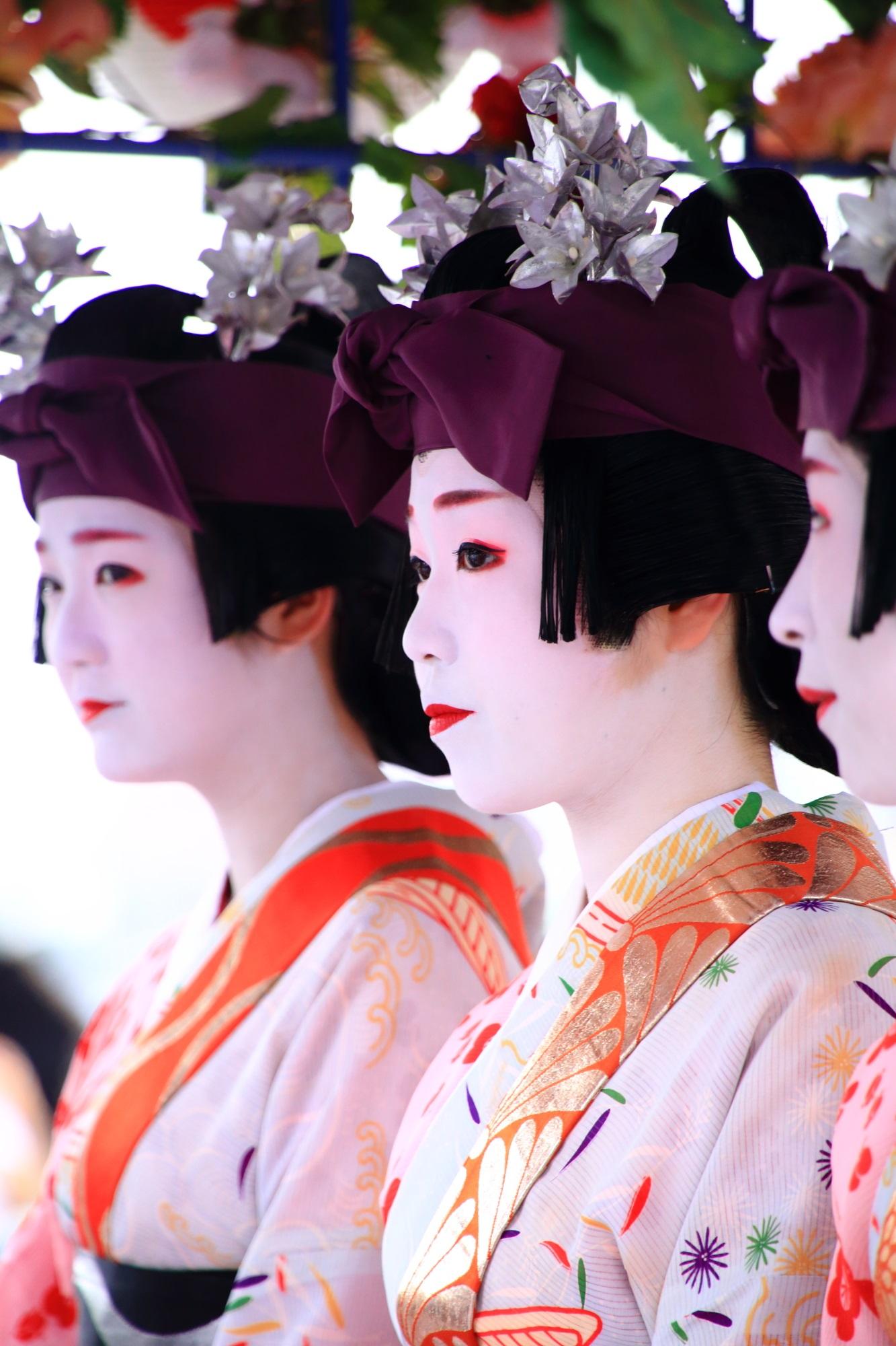 舞妓さん 花傘巡行 祇園祭