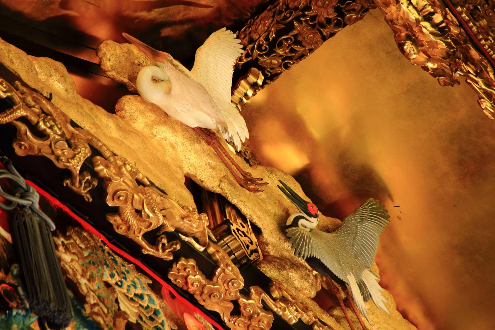 祇園祭の後祭の北観音山の彫刻