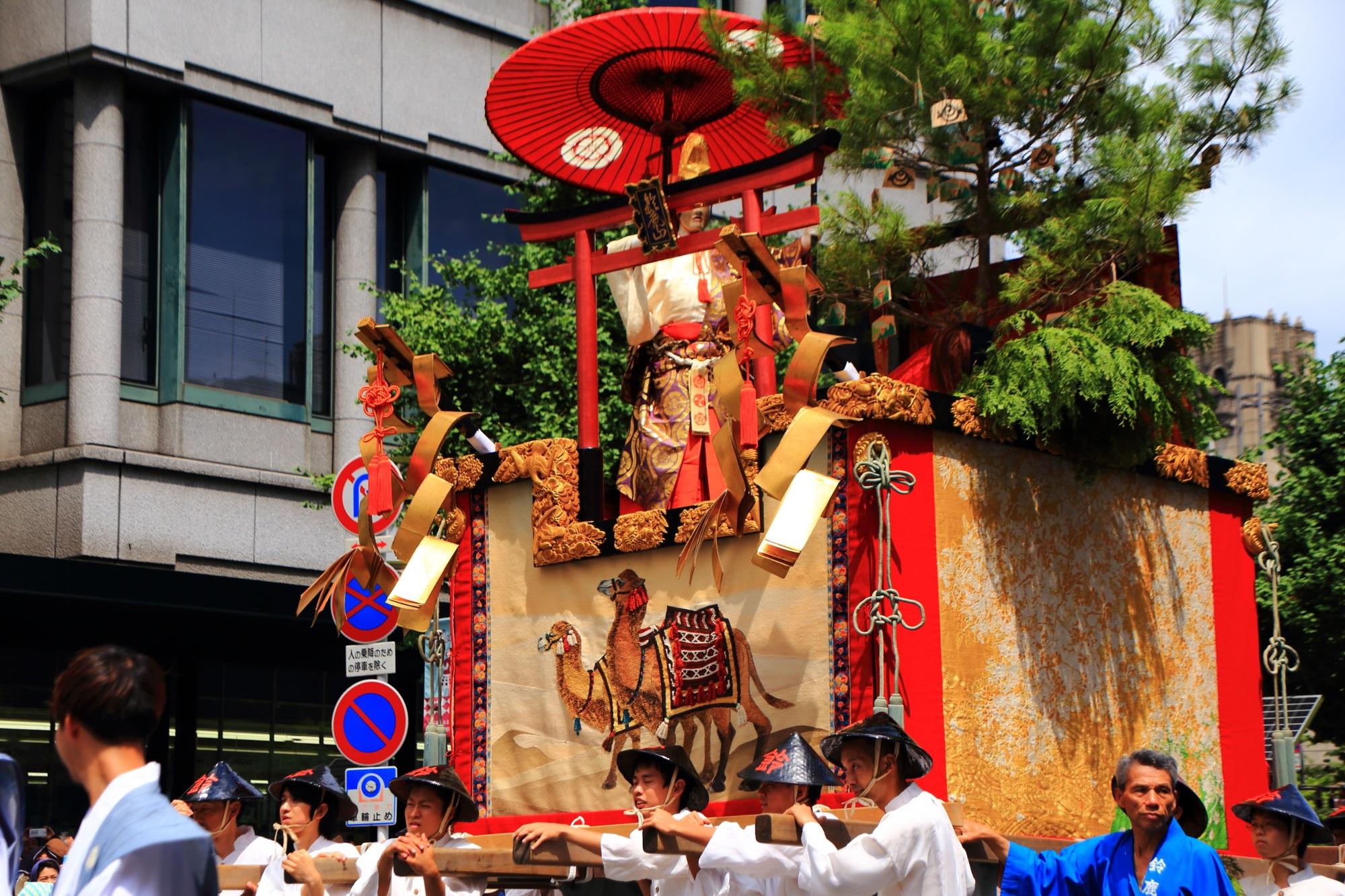 高画質 山鉾巡行 祇園祭 後祭 写真 鈴鹿山