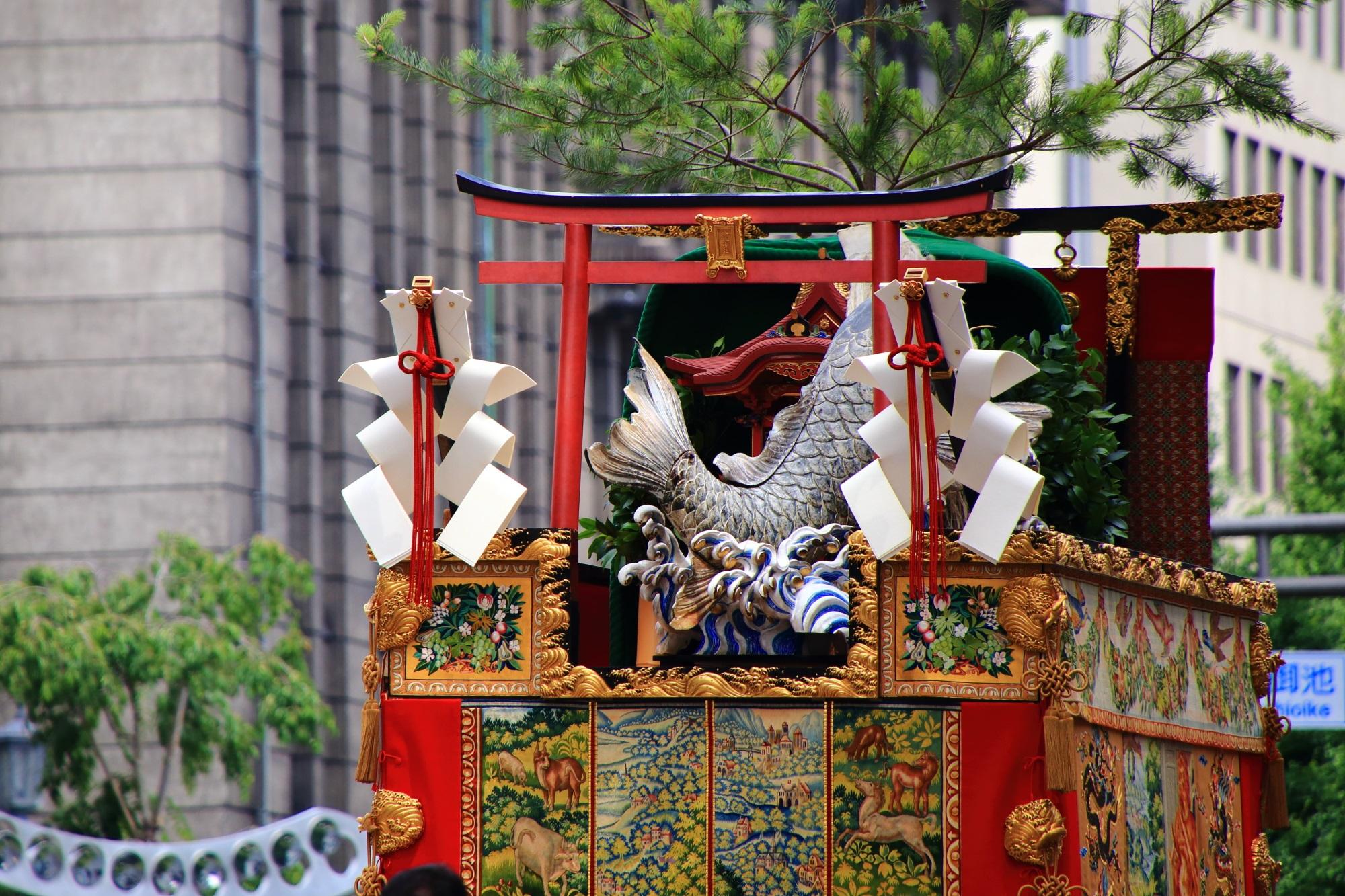 鯉山 山鉾巡行 祇園祭 後祭 夏