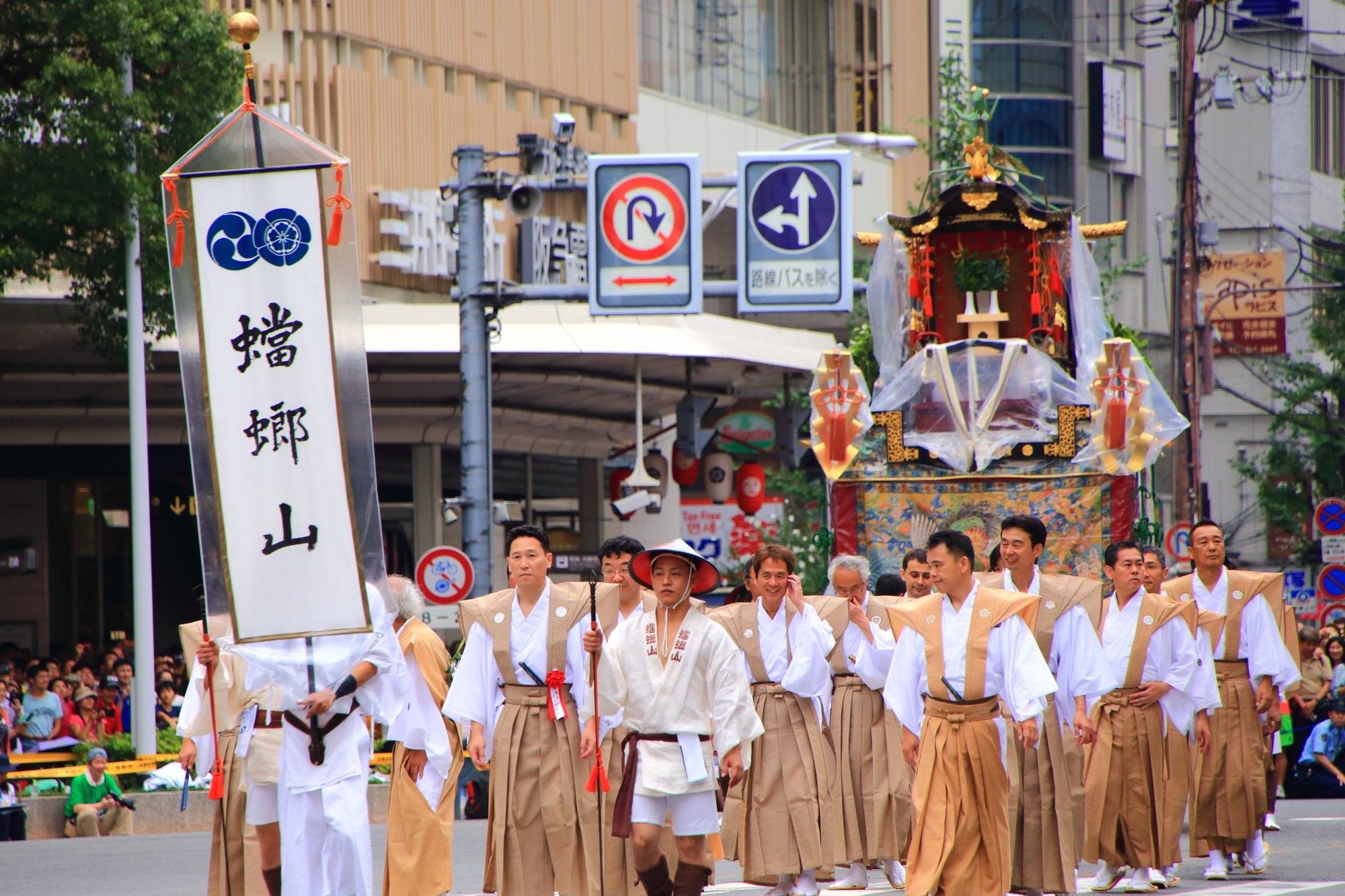 祇園祭の山鉾巡行の人気の蟷螂山(かまきり山)