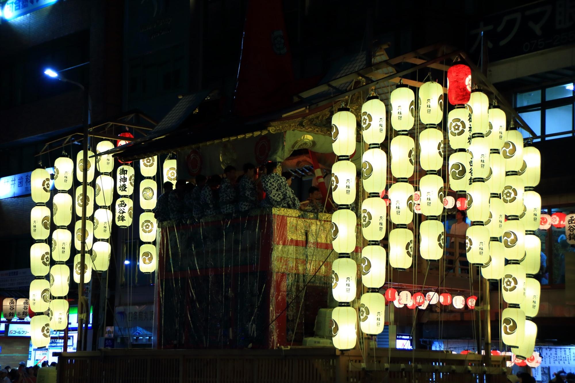 日本三大祭の祇園祭の宵山の函谷鉾