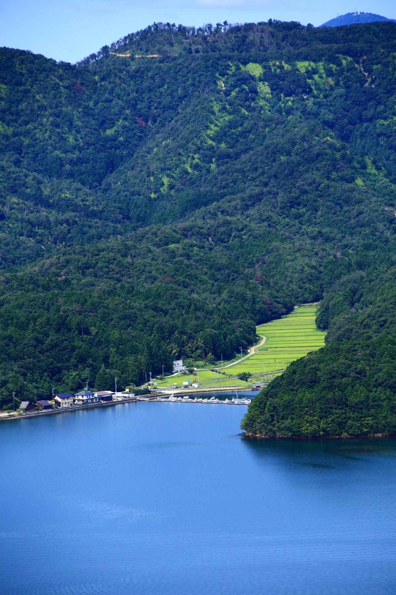 山と棚田と久美浜湾の絶品の景色