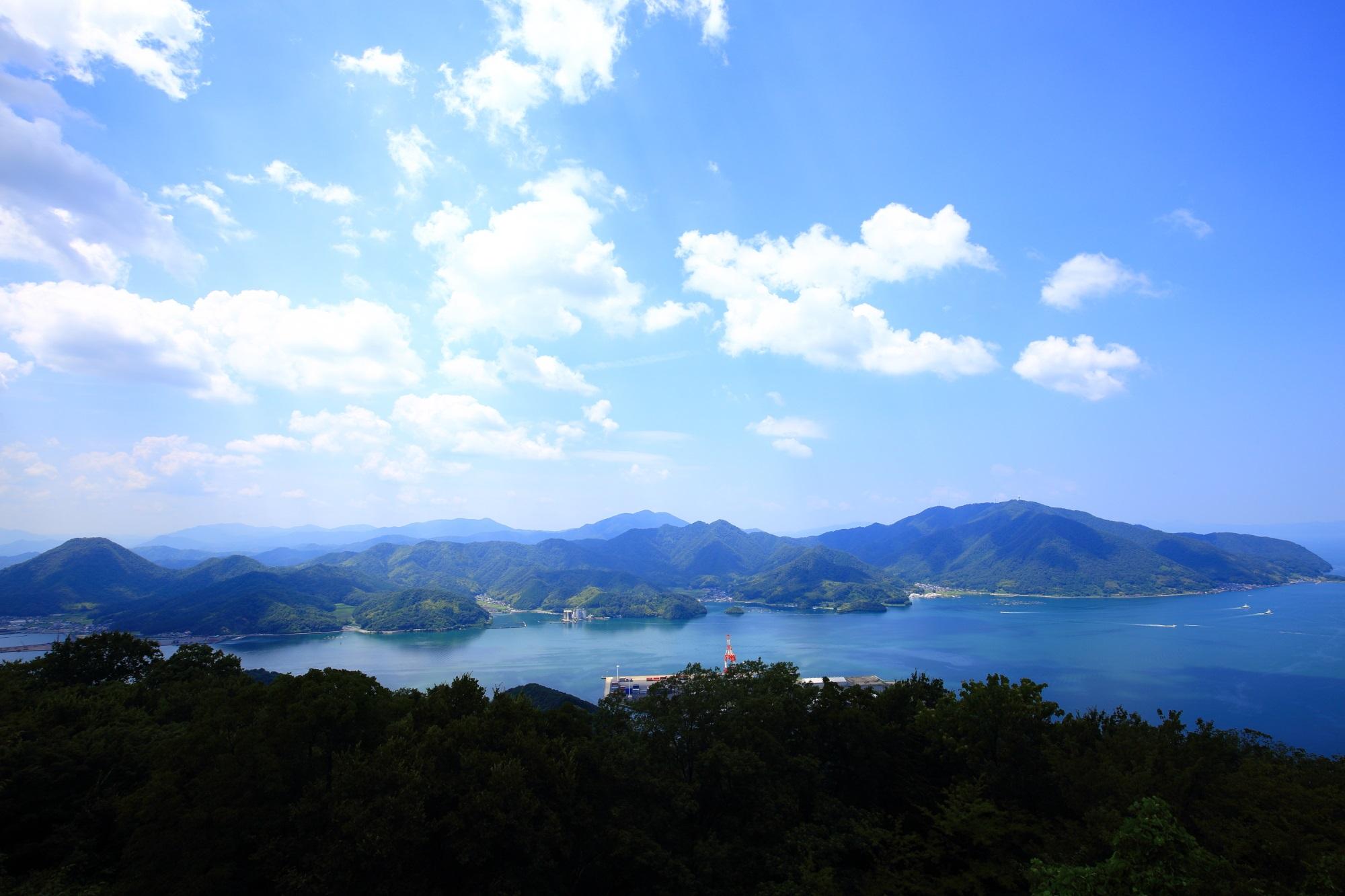 五老岳公園から眺める舞鶴湾の素晴らしい景色