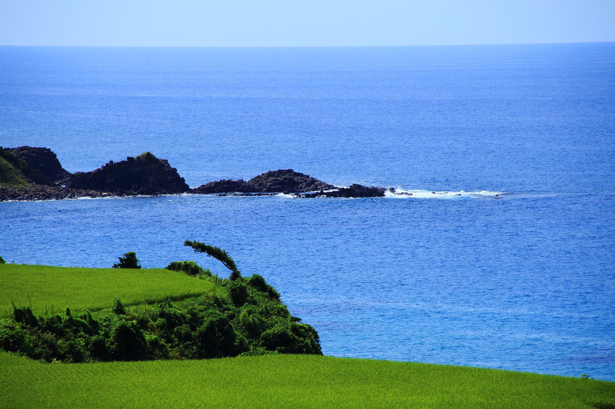 少し振り返ると開けている京丹後の日本海