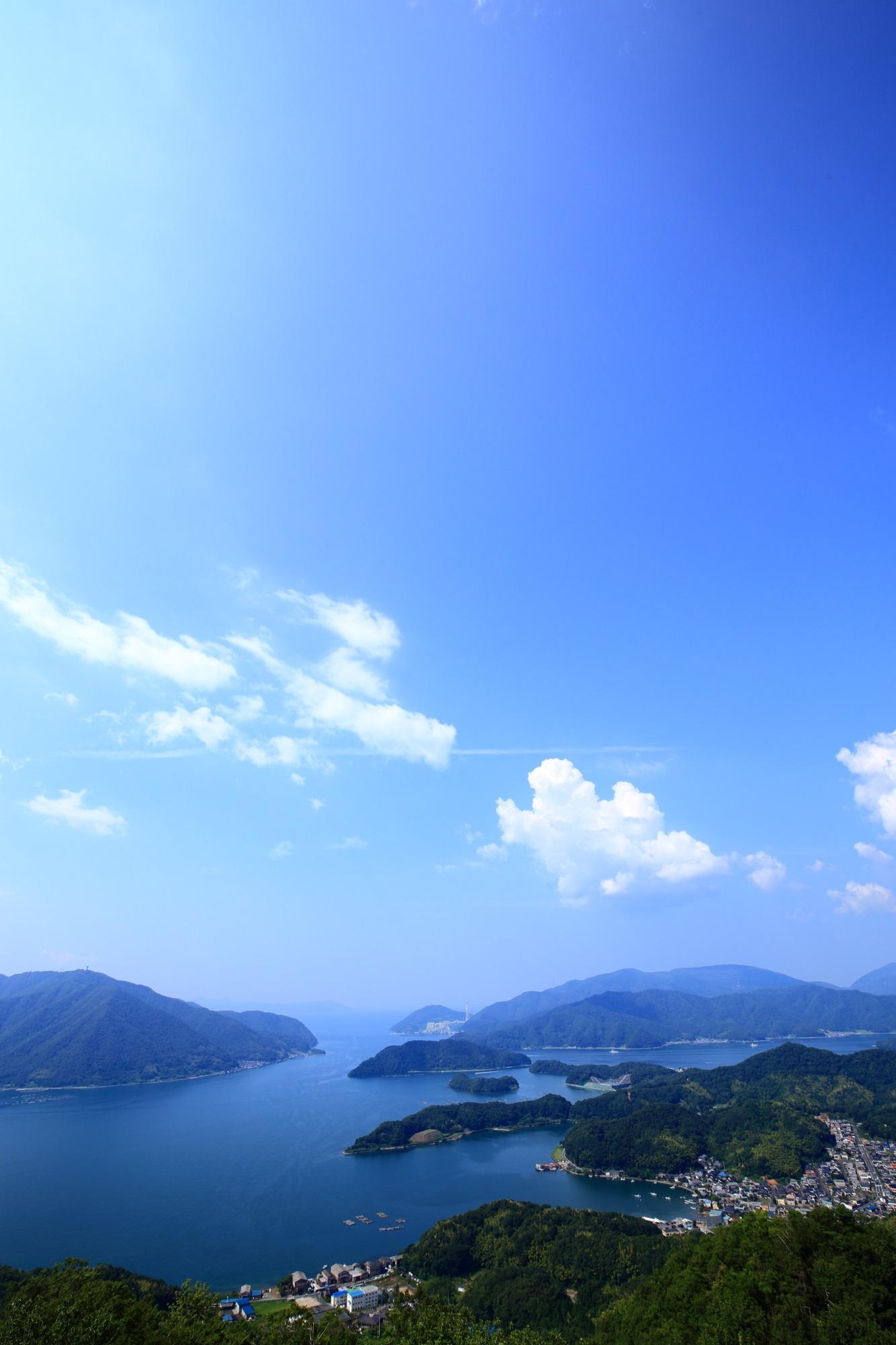 舞鶴の五老岳から眺めた海の京都の絶景
