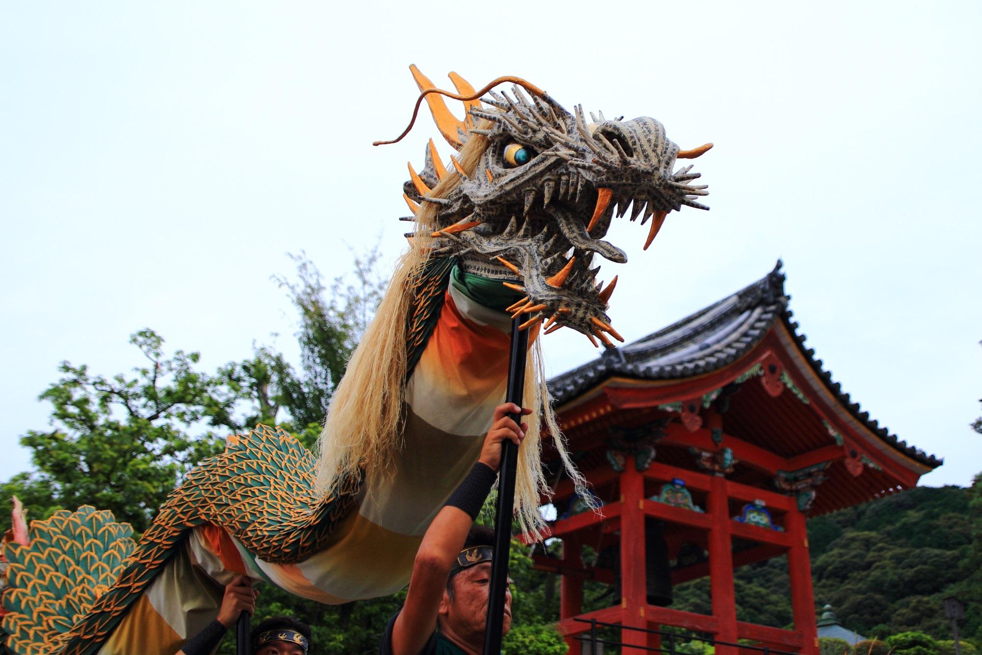 清水寺の迫力の青龍会行道