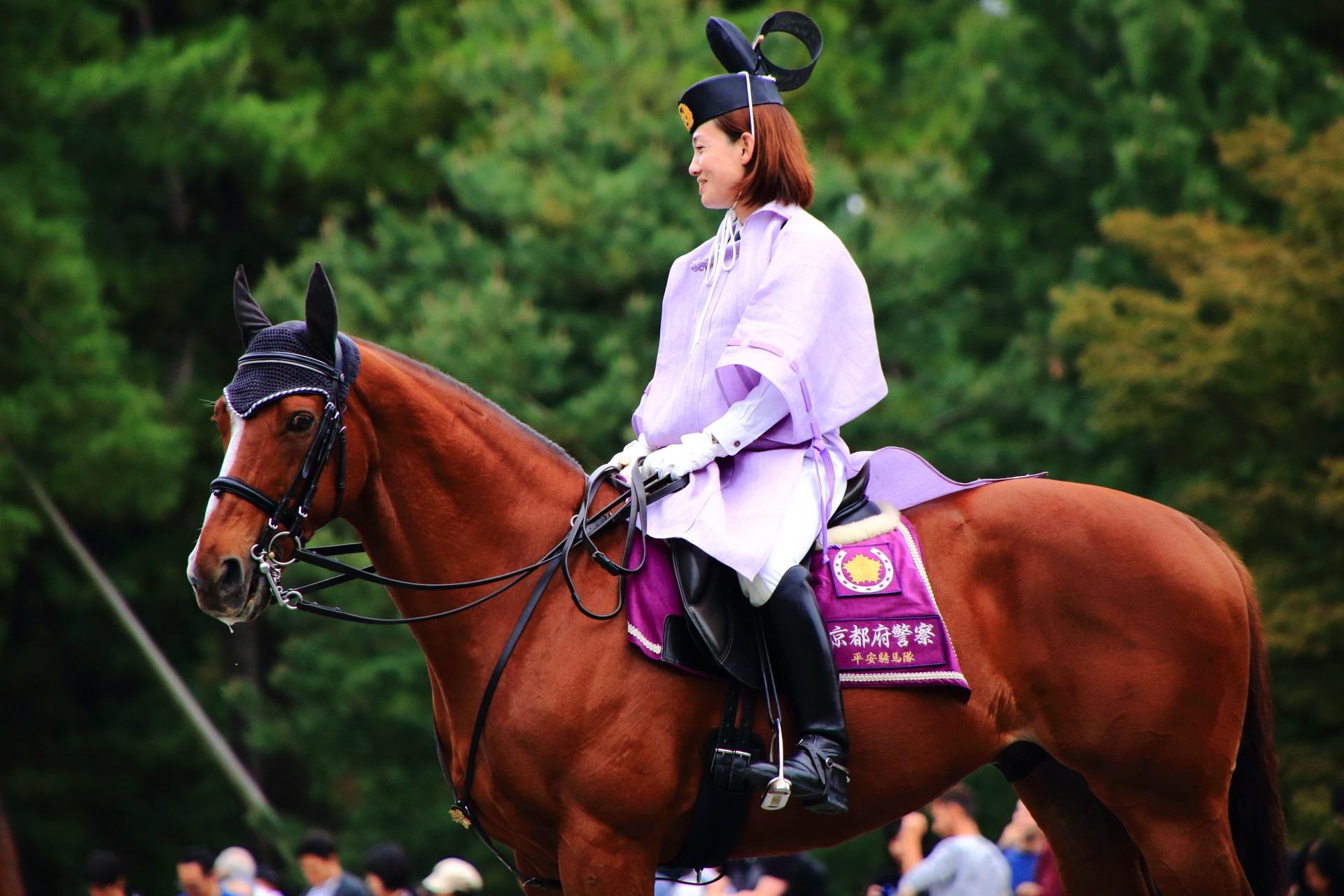 京都三大祭の時代祭の警察の馬