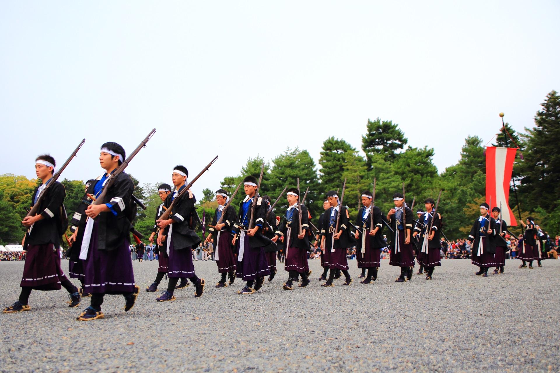 時代祭の維新勤王隊列