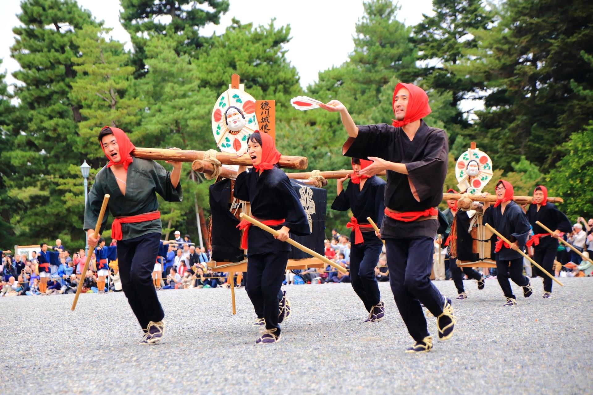 江戸時代の徳川城使上洛列(とくがわじょうしじょうらくれつ)