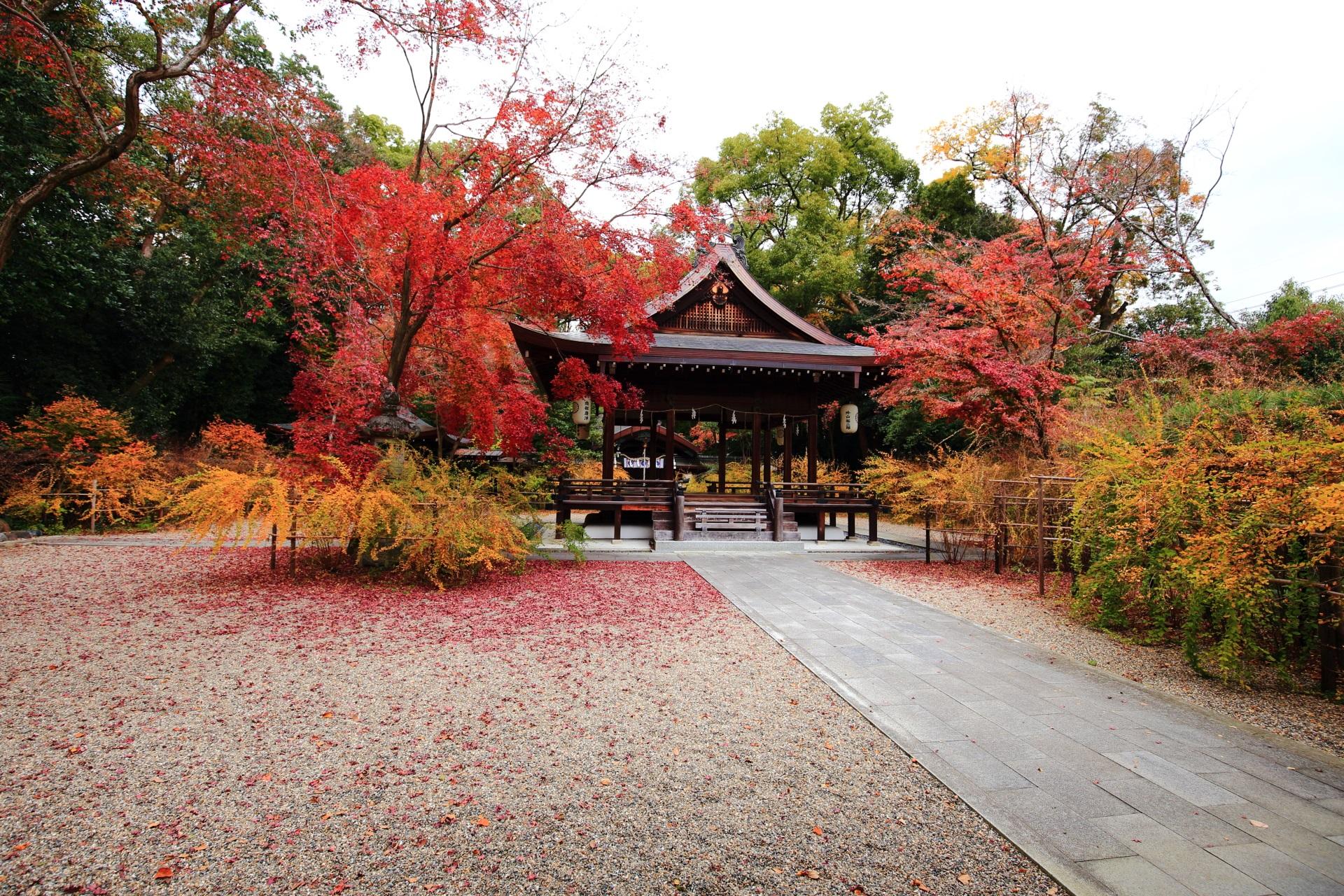 梨木神社(なしのきじんじゃ)の絵になる秋の情景