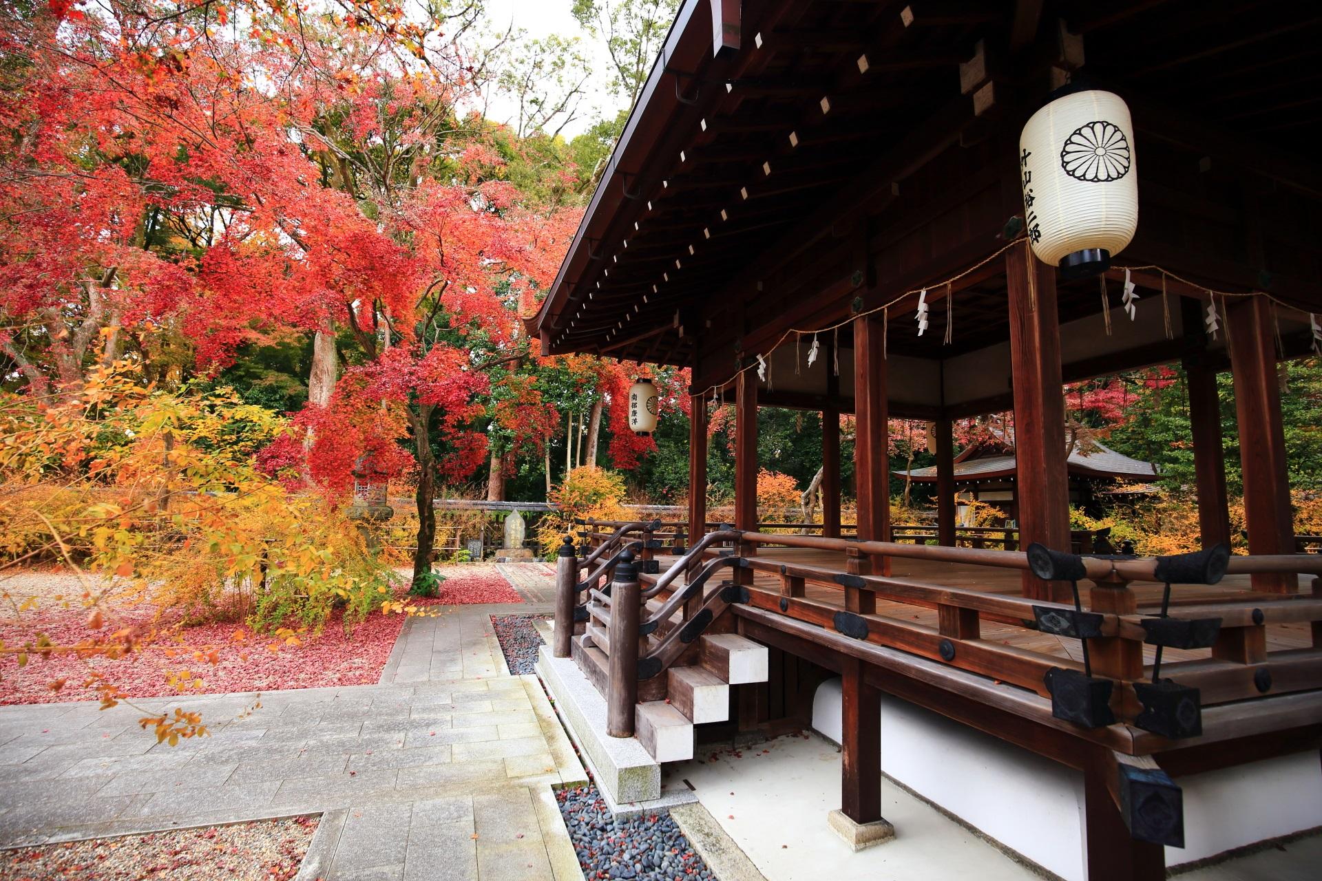 多彩な秋色に溢れる梨木神社