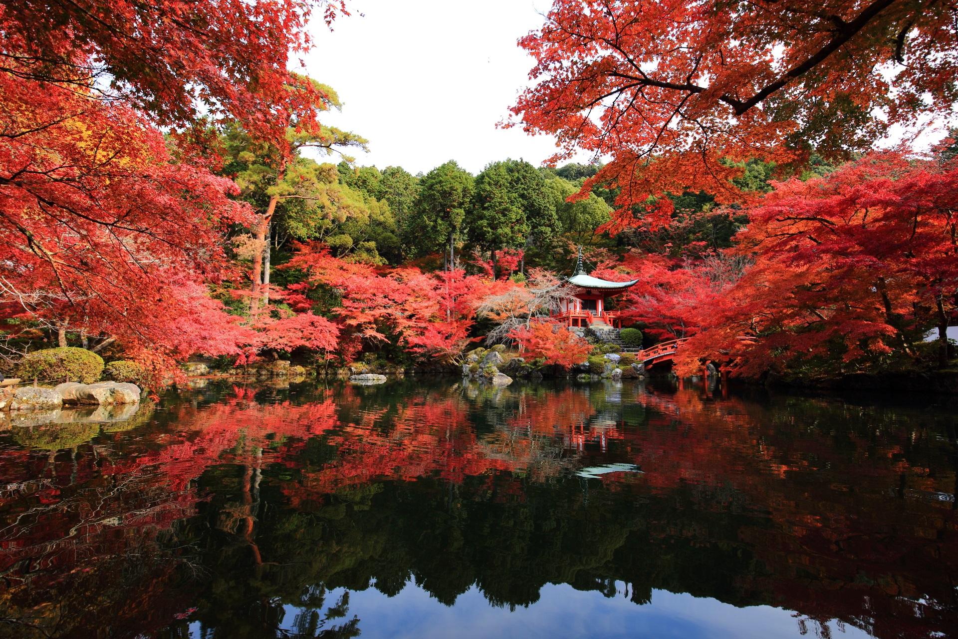 醍醐寺の素晴らしい紅葉と秋の情景