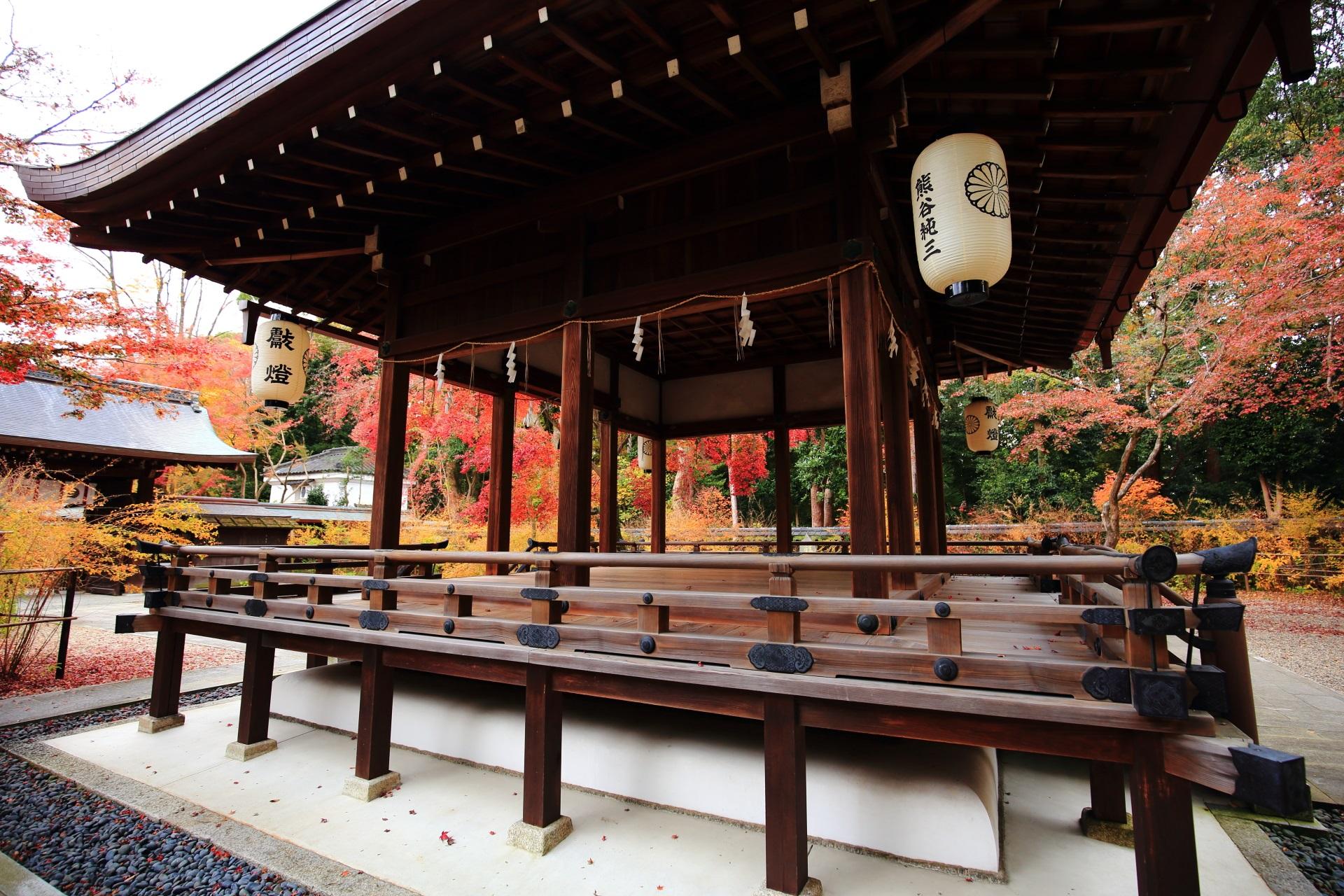 いろんな場所や角度から楽しめる梨木神社の紅葉