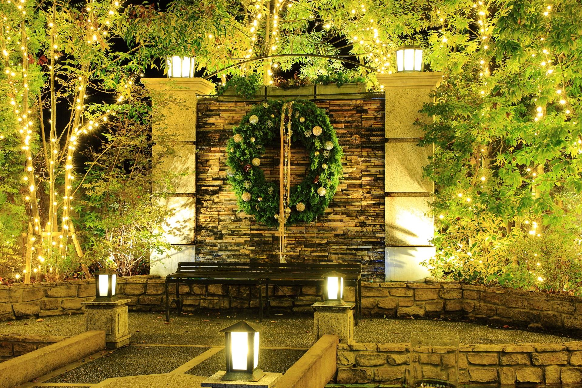 北山ル・アンジェ教会のクリスマスの飾り