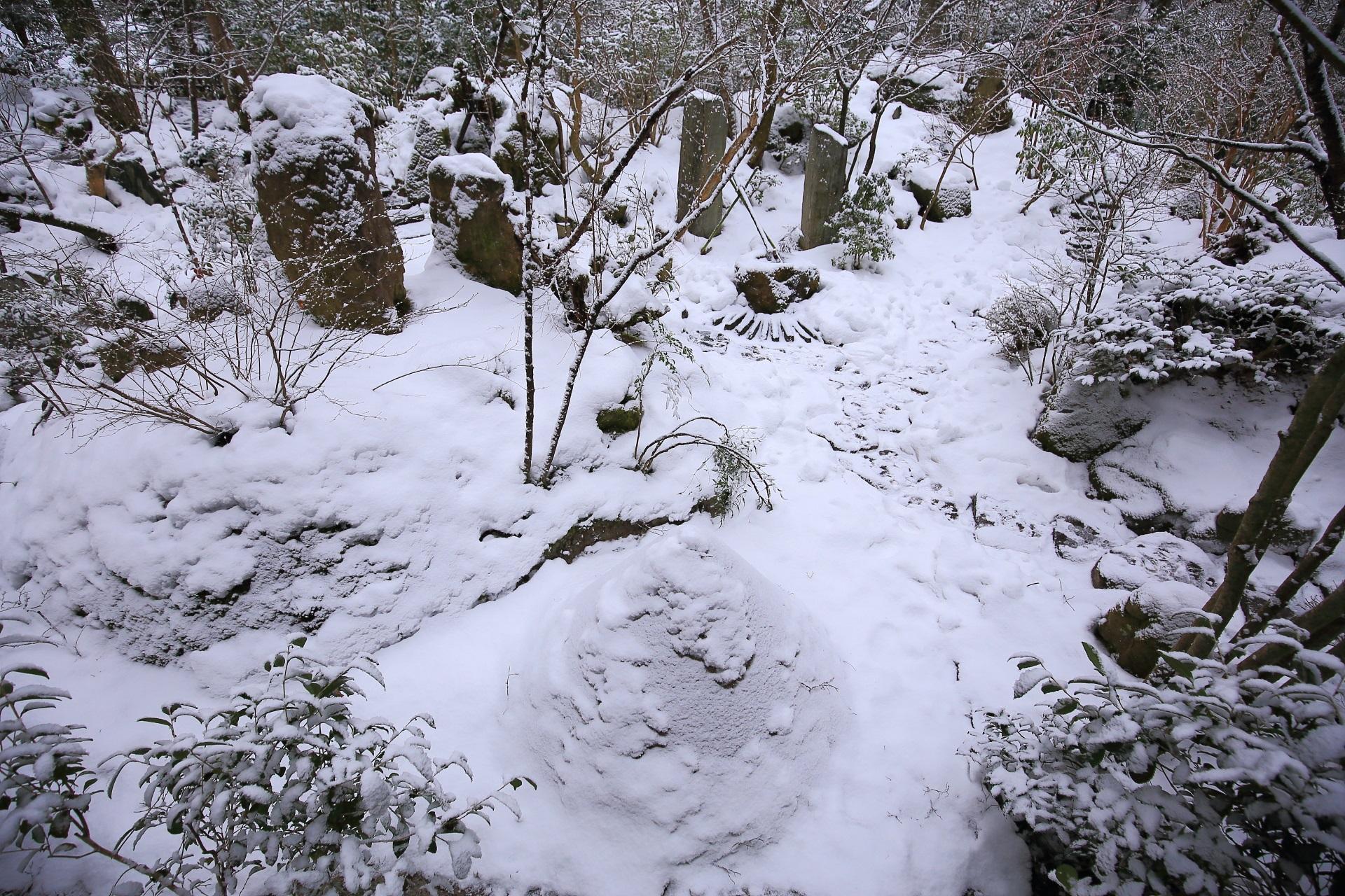 上から眺めた雪の宝楽園