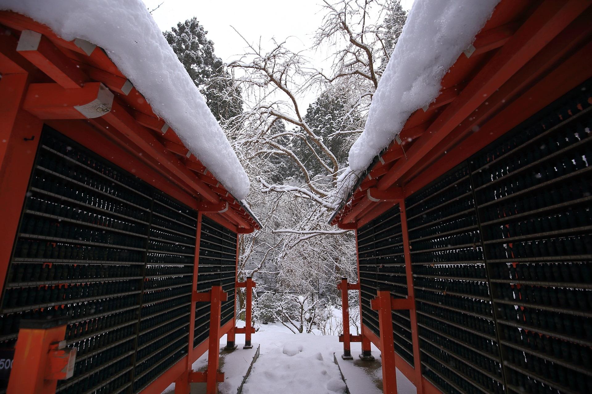 雪がてんこ盛りの三千院