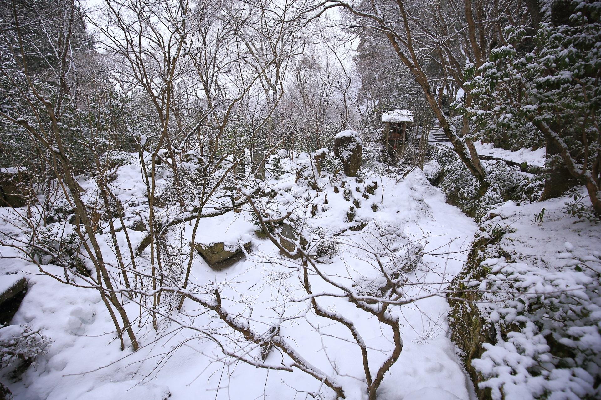 宝楽園の雪景色