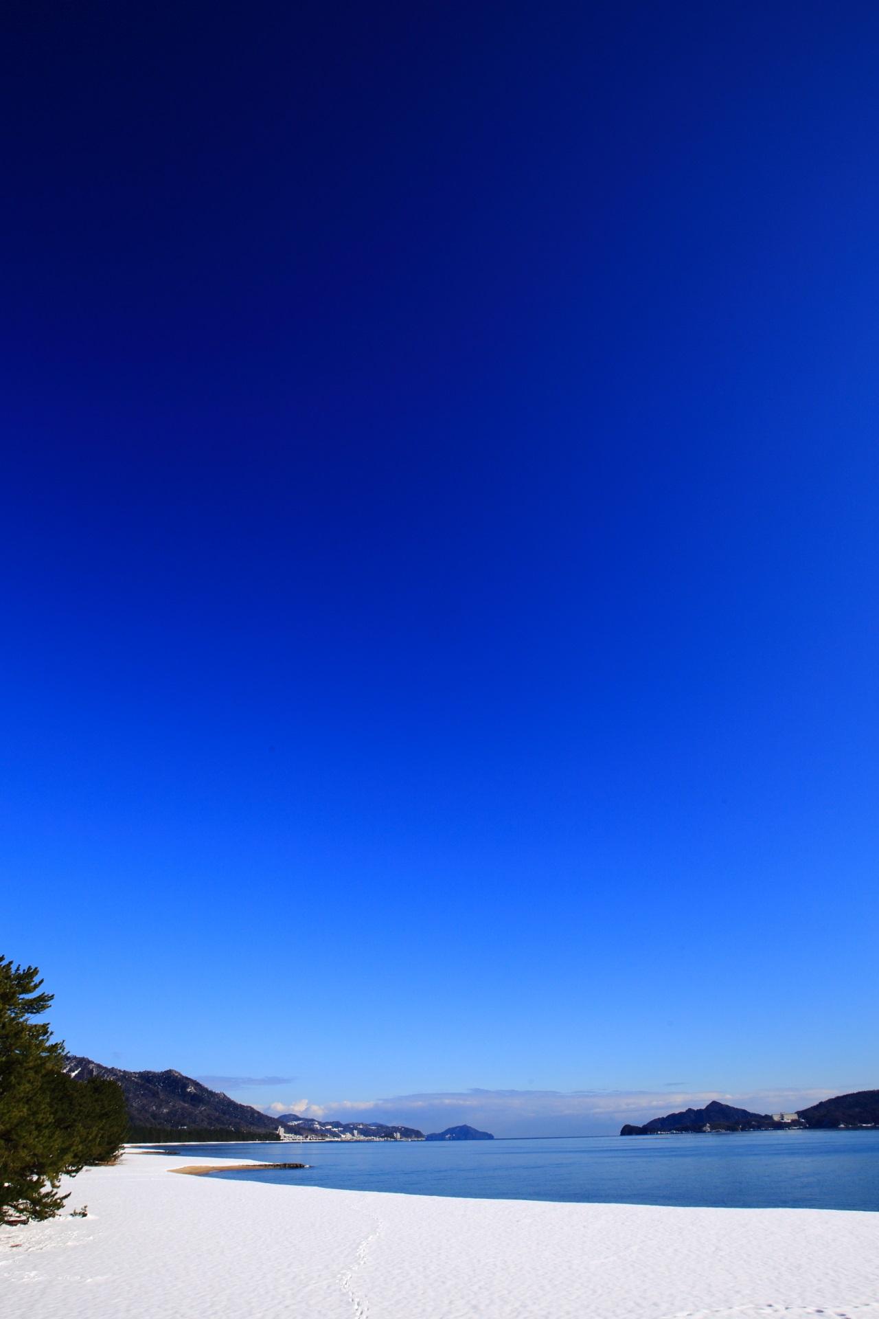 天橋立の最高の青空