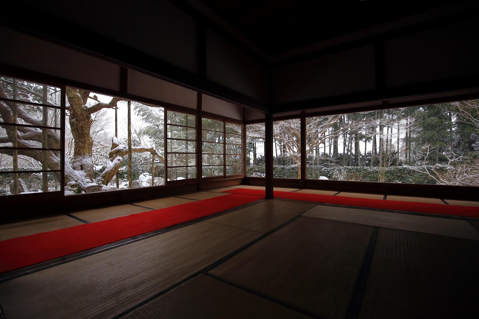 高画質 写真 宝泉院 雪景色