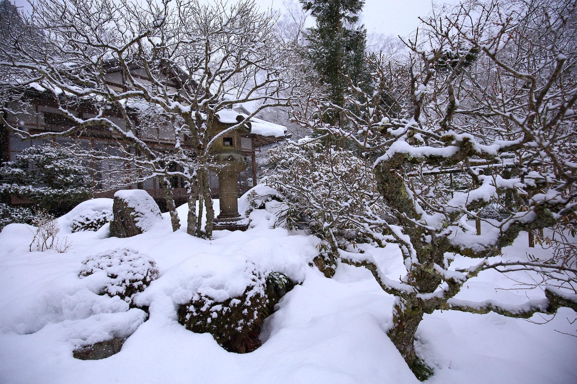 snowy landscape Ohara jikko-in Temple in Kyoto,Japan