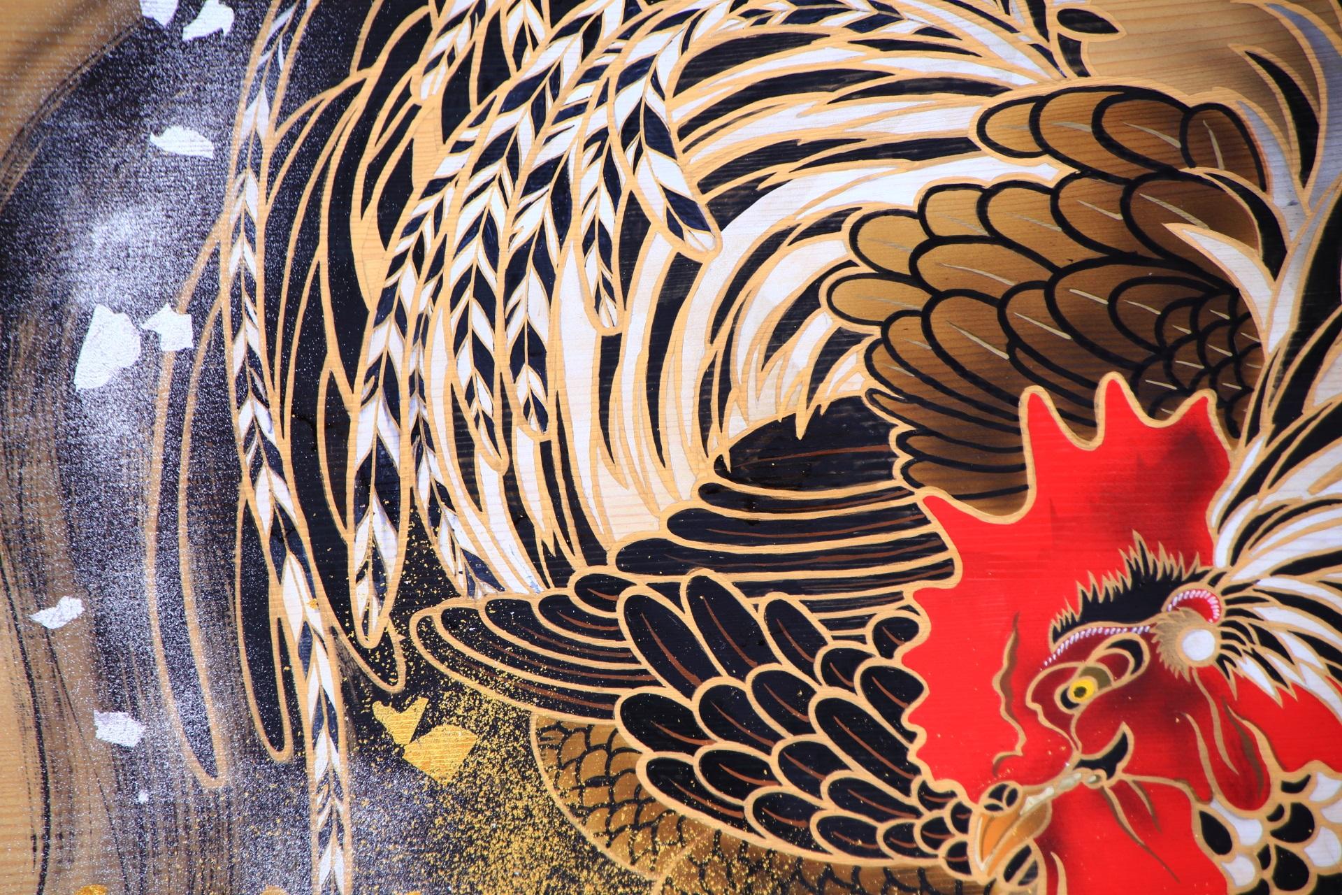 Rooster year large ema Shimogamo-jinja shrine in Kyoto,Japan