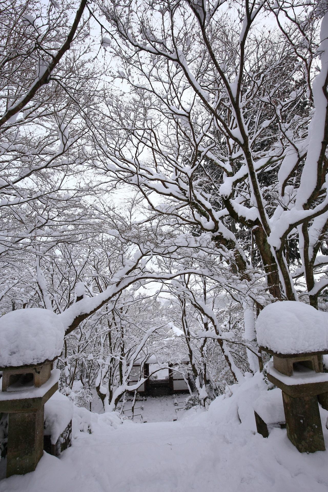 snowy landscape Jyojyakkoji-Temple in Kyoto,Japan