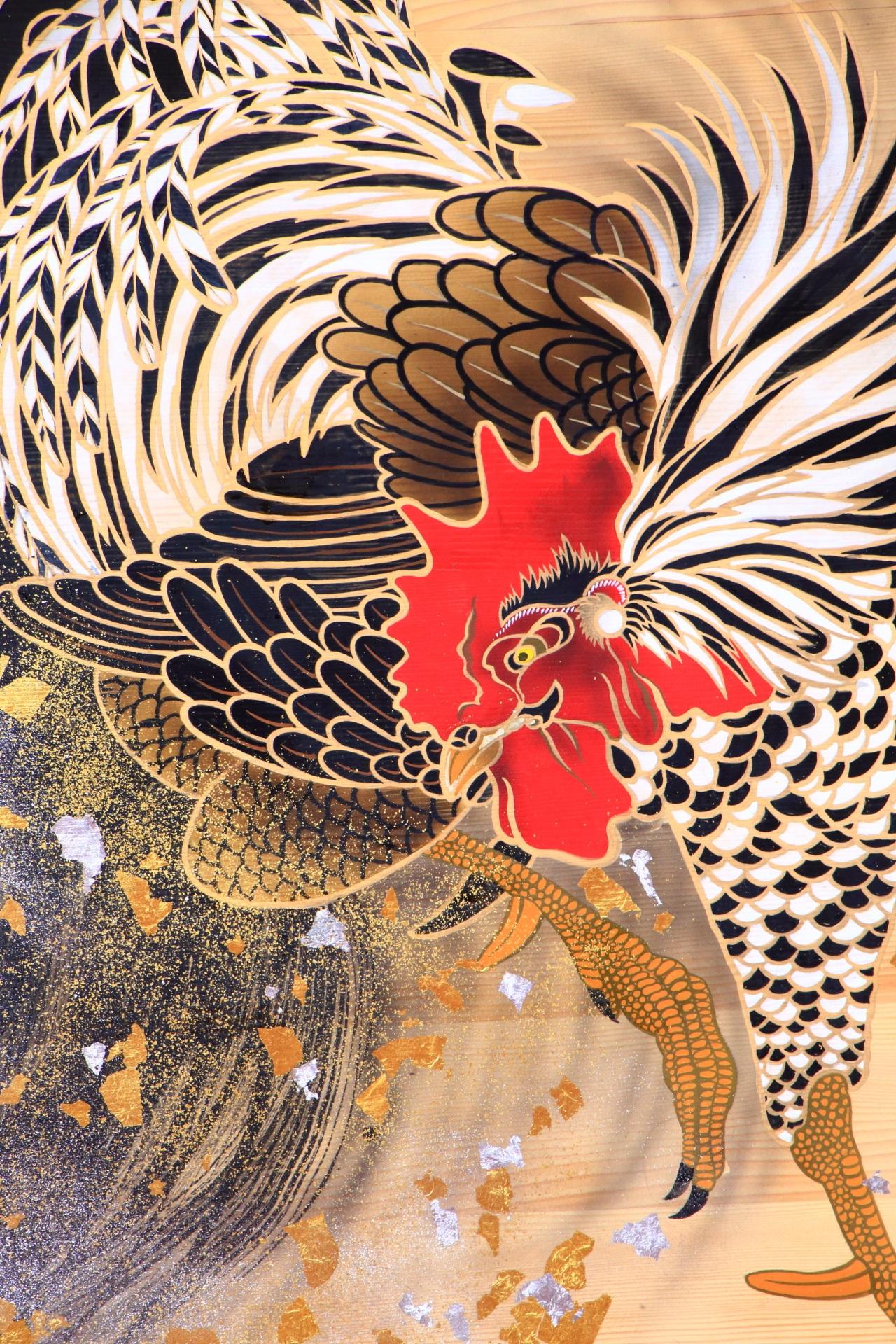 Kyoto Shimogamo-jinja shrine A large ema Rooster year