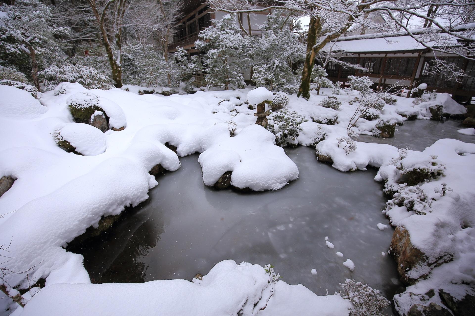 高画質 写真 三千院 雪景色
