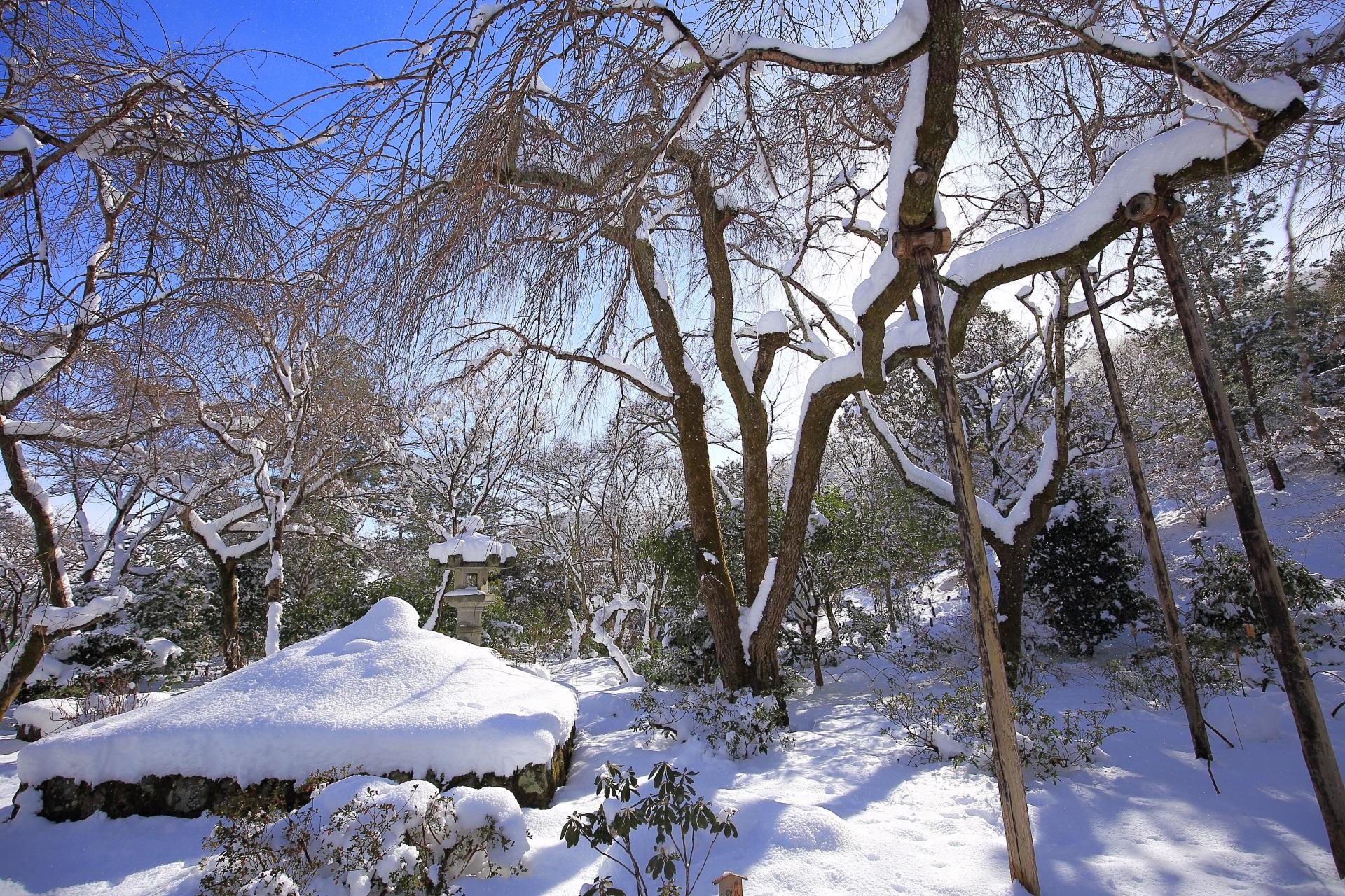 天龍寺 高画質 雪 写真
