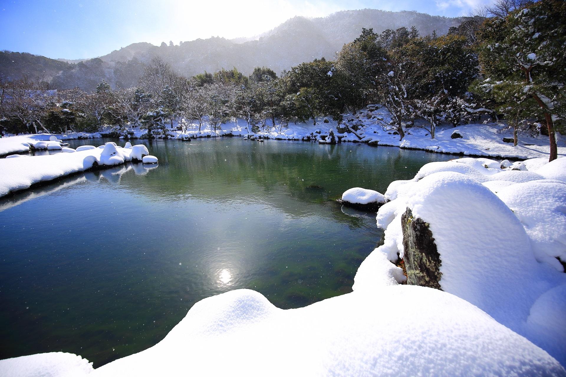 晴れ間の見える冬の天龍寺