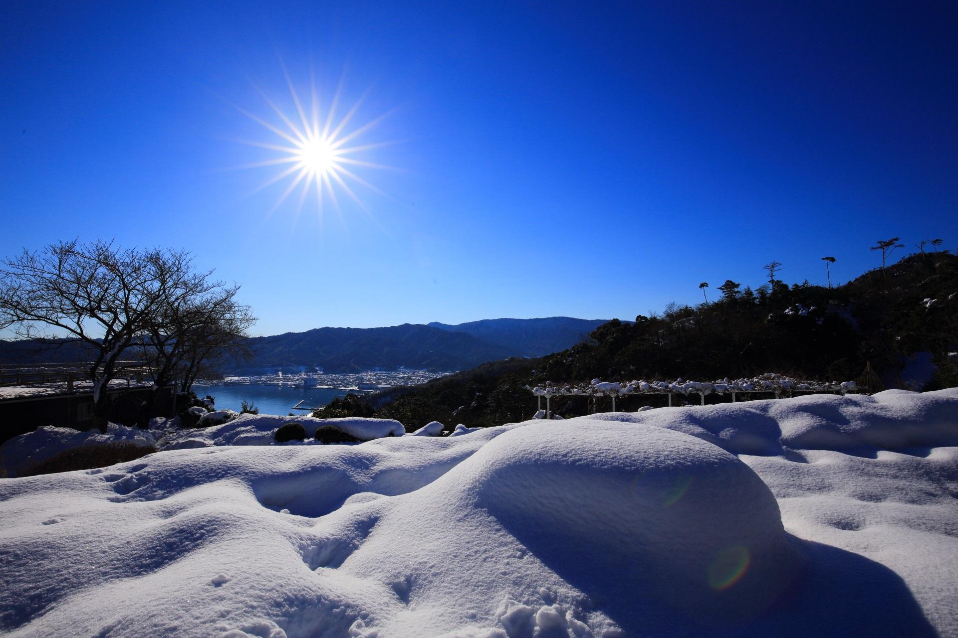 雪がてんこ盛りの天橋立ビューランド