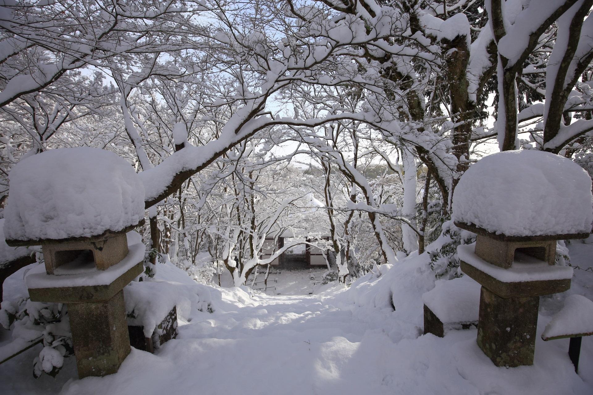 常寂光寺 雪 京都奥嵯峨の絶品の雪景色