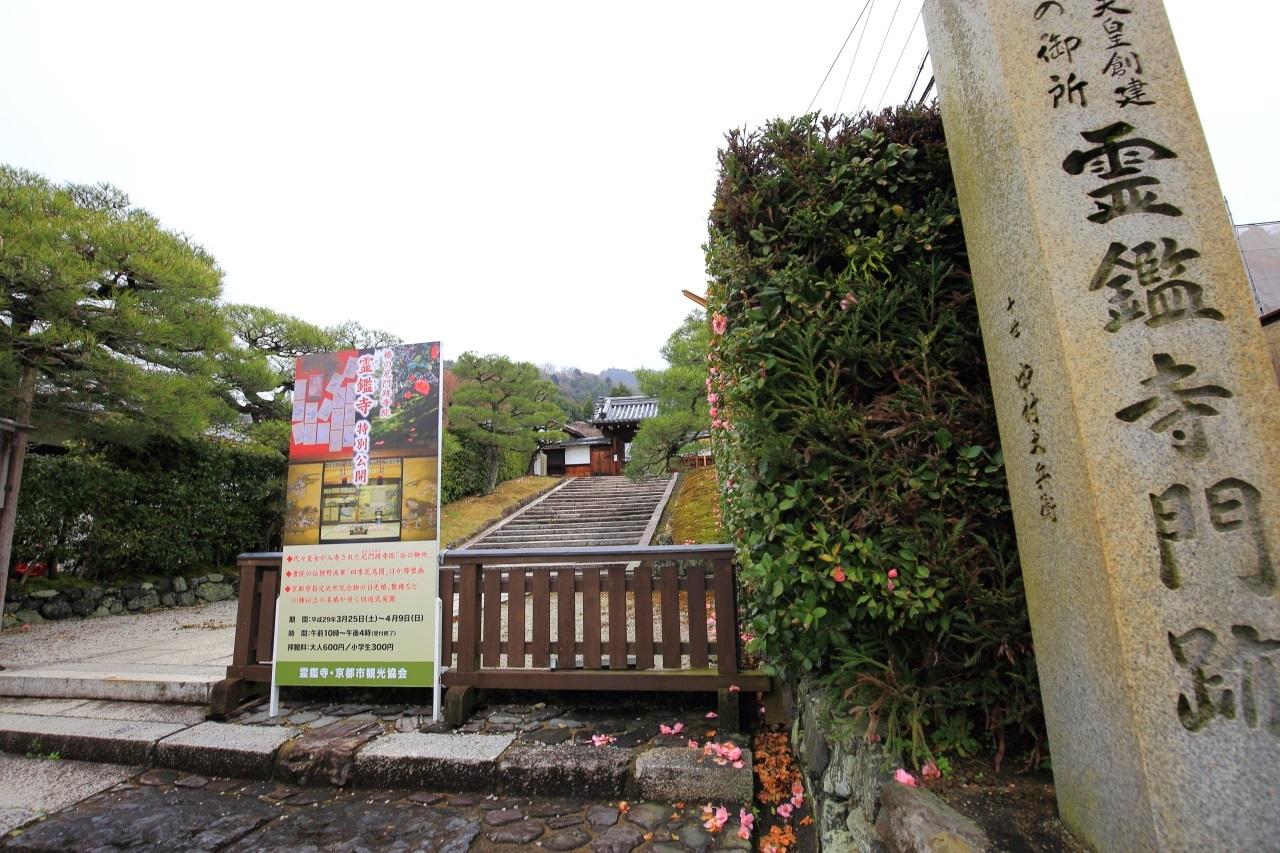 霊鑑寺(れいかんじ)の石段と山門