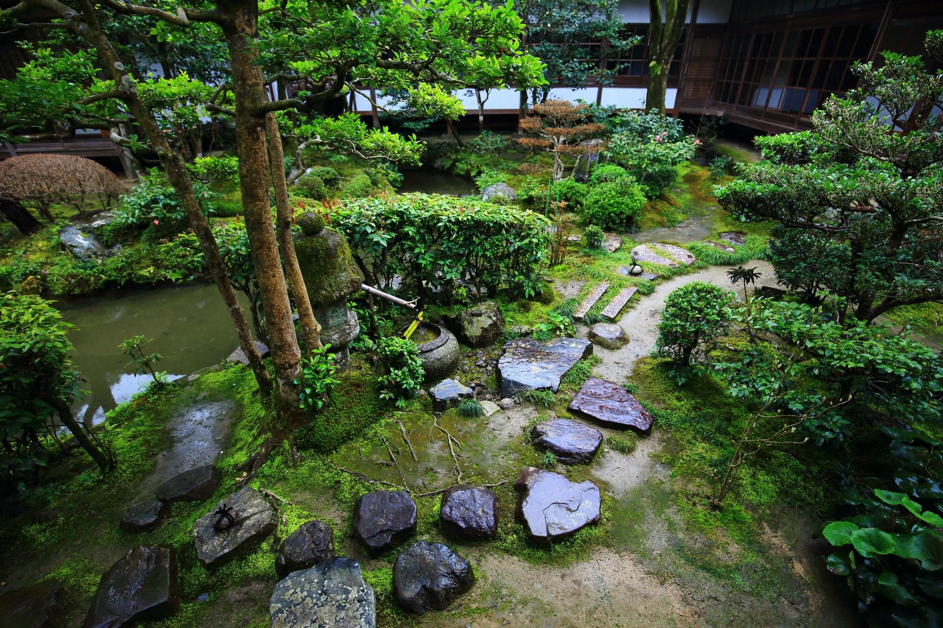 高画質 写真 法然院 方丈庭園