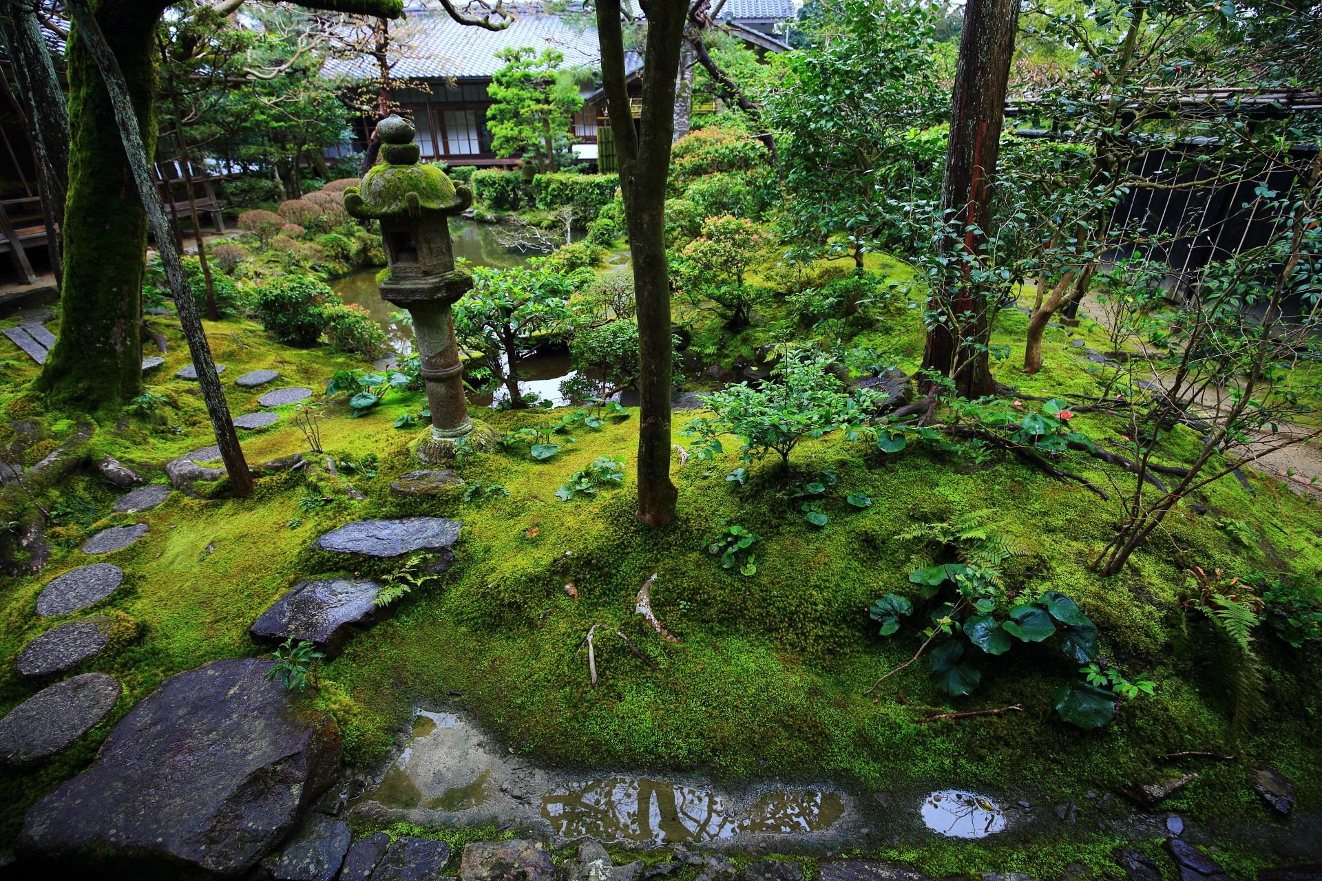 緑が素晴らしい情緒溢れる庭園