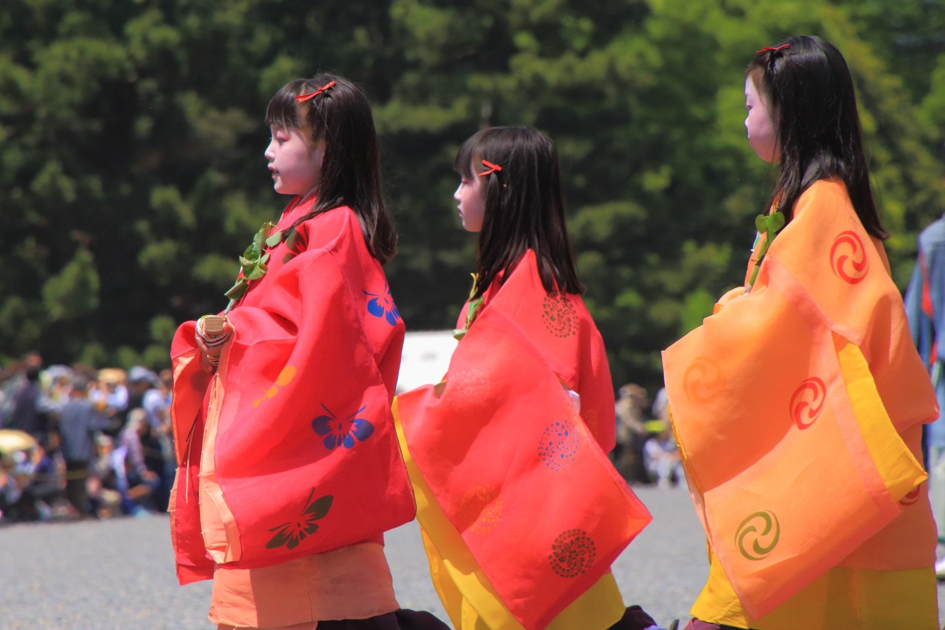 葵祭の可愛い子供