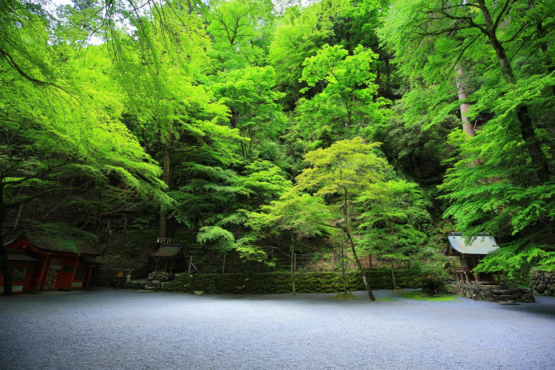 緑と自然につつまれた貴船神社の奥宮