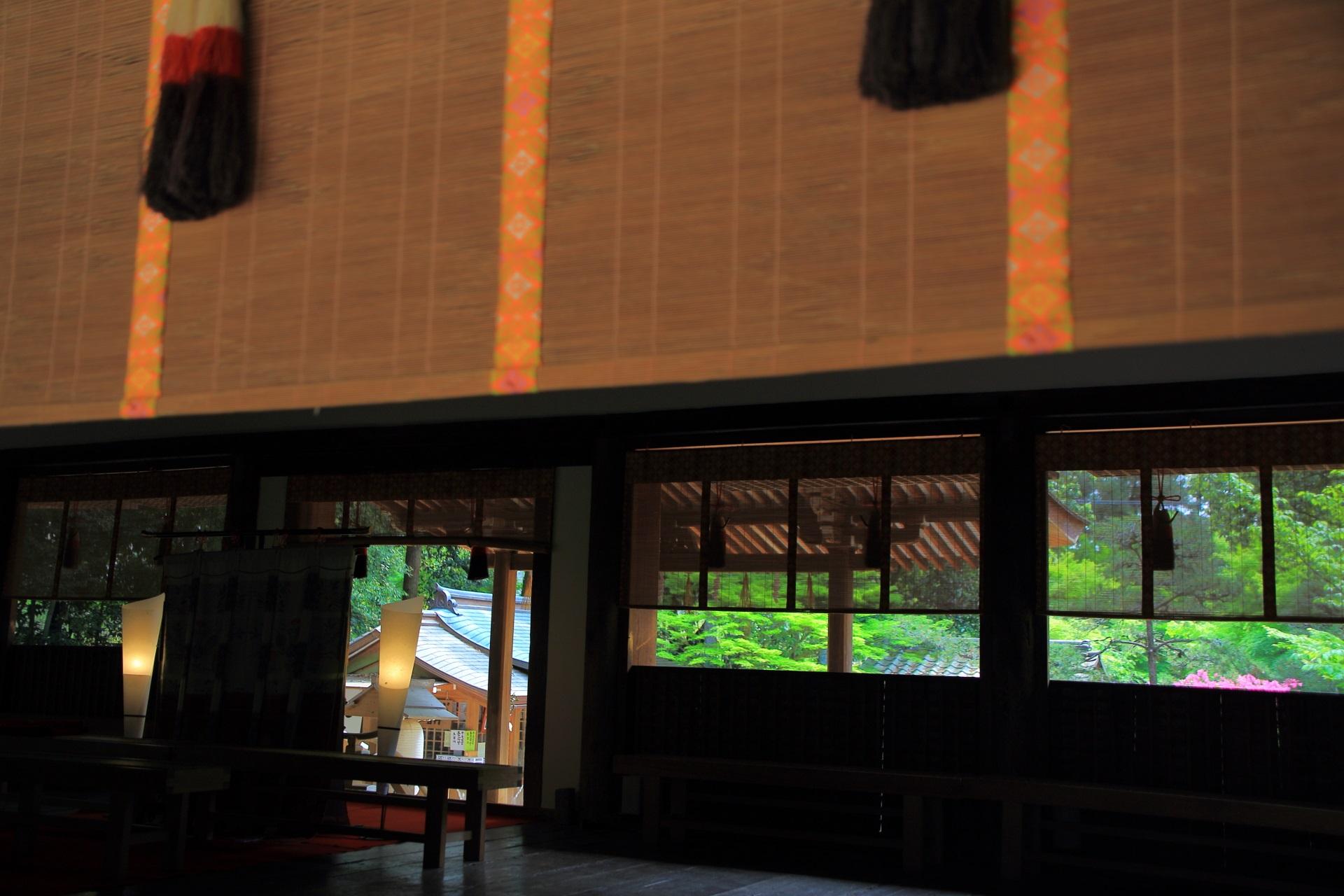 世界遺産の宇治上神社の拝殿