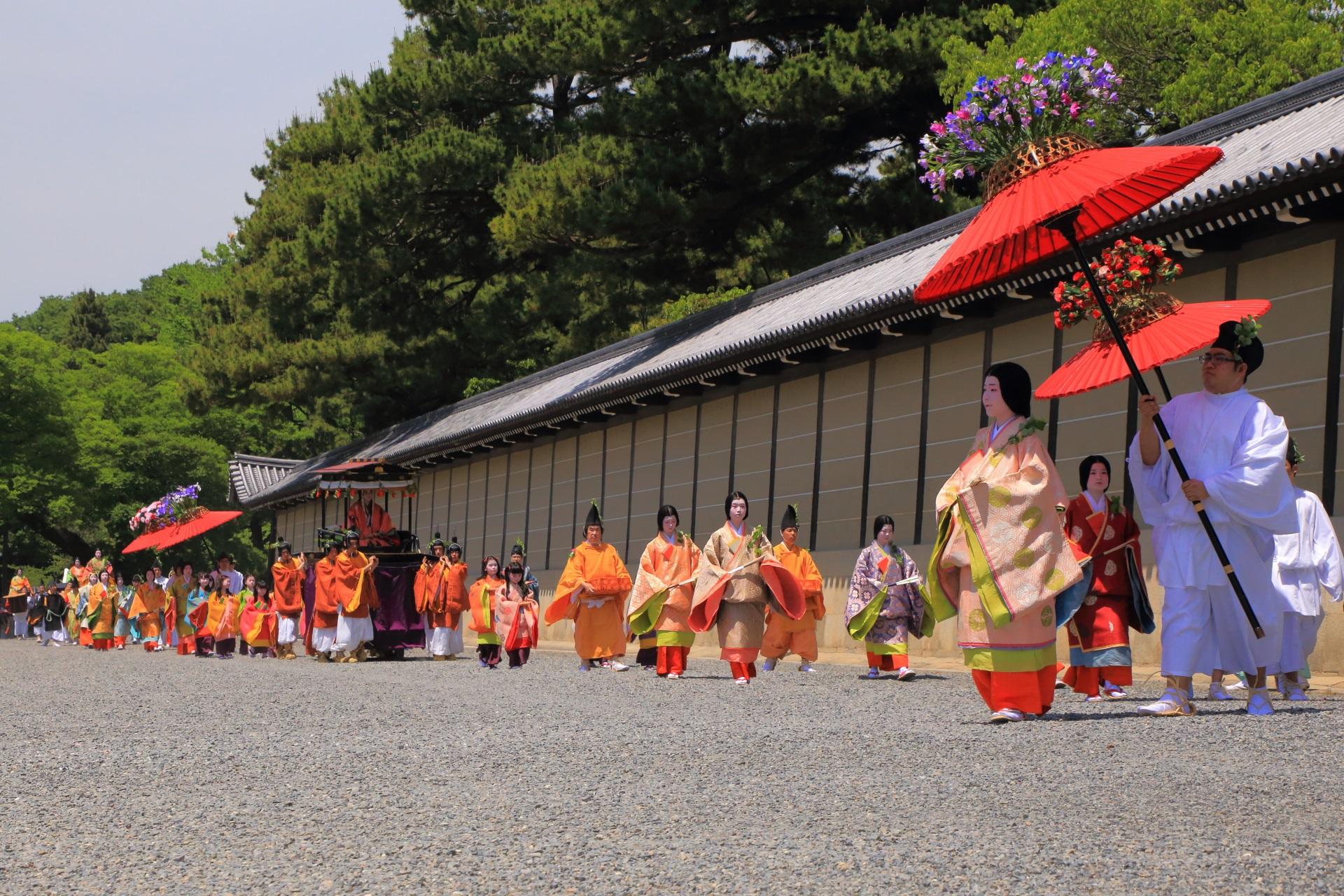 葵祭の華やかな行列