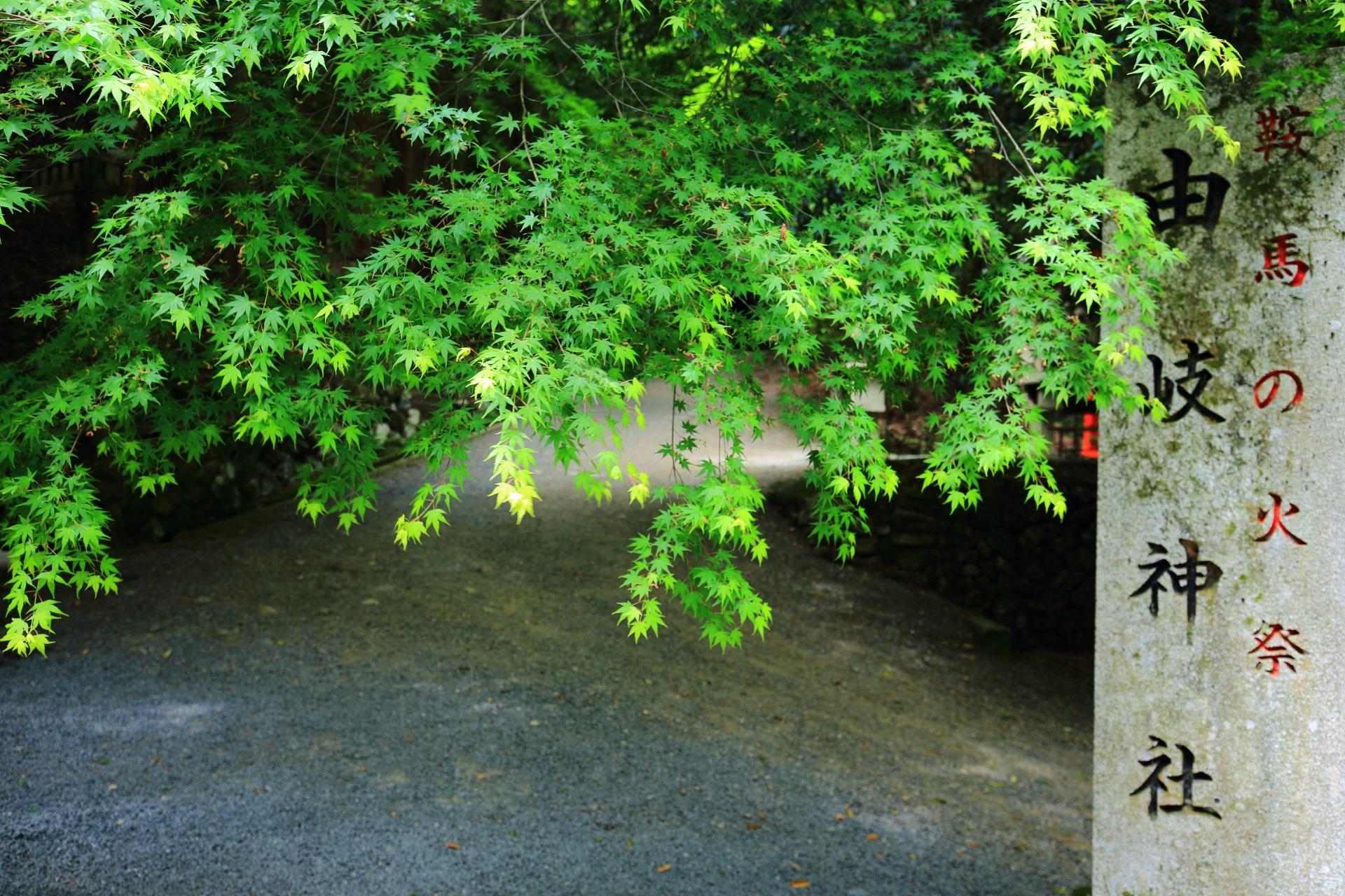 鞍馬の火祭で知られる由岐神社