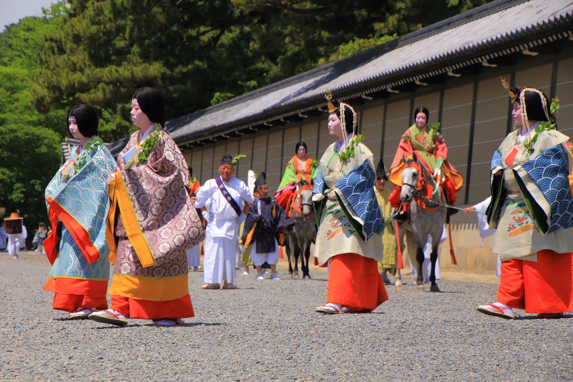 葵祭の上品な行列