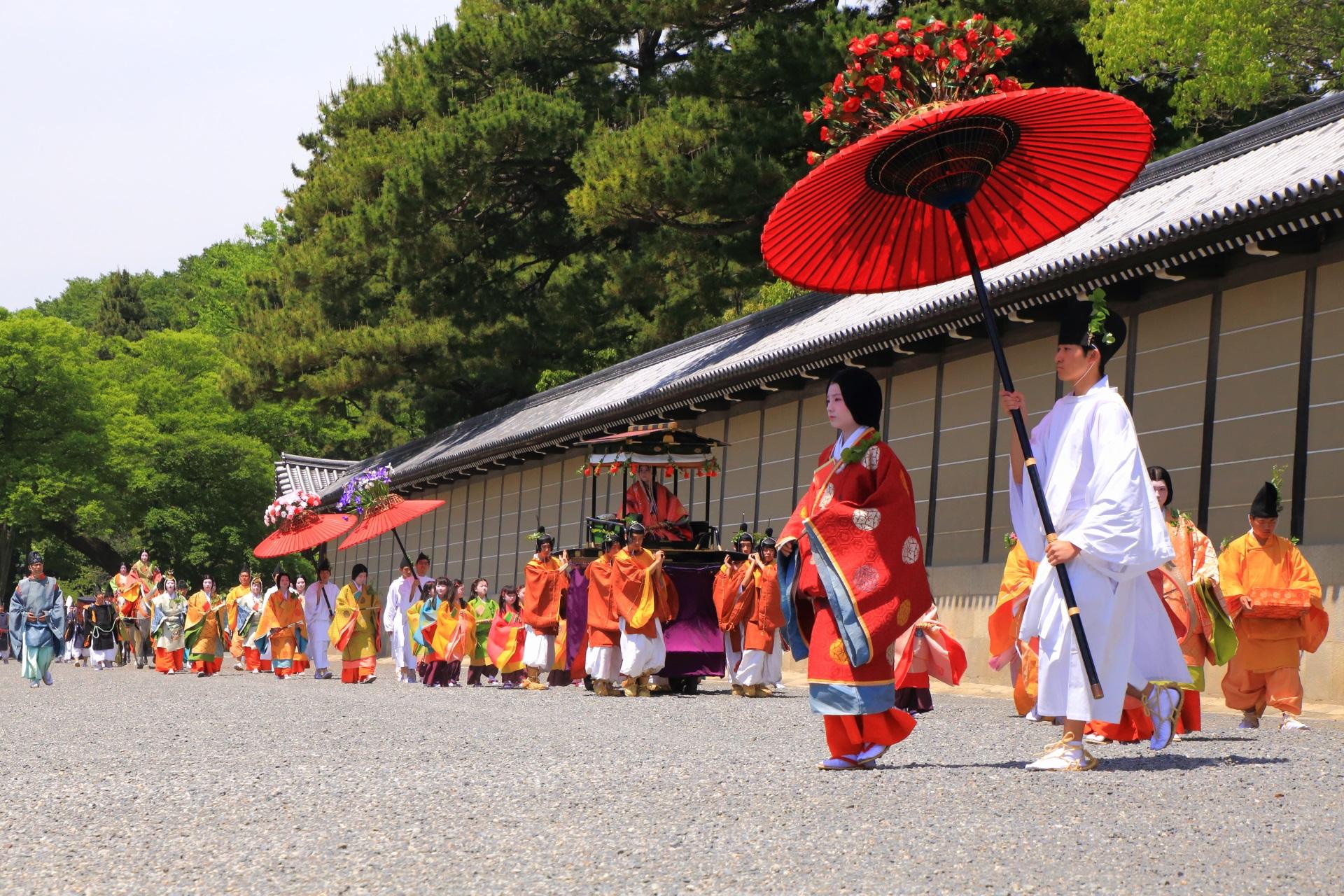 葵祭 風情ある和傘