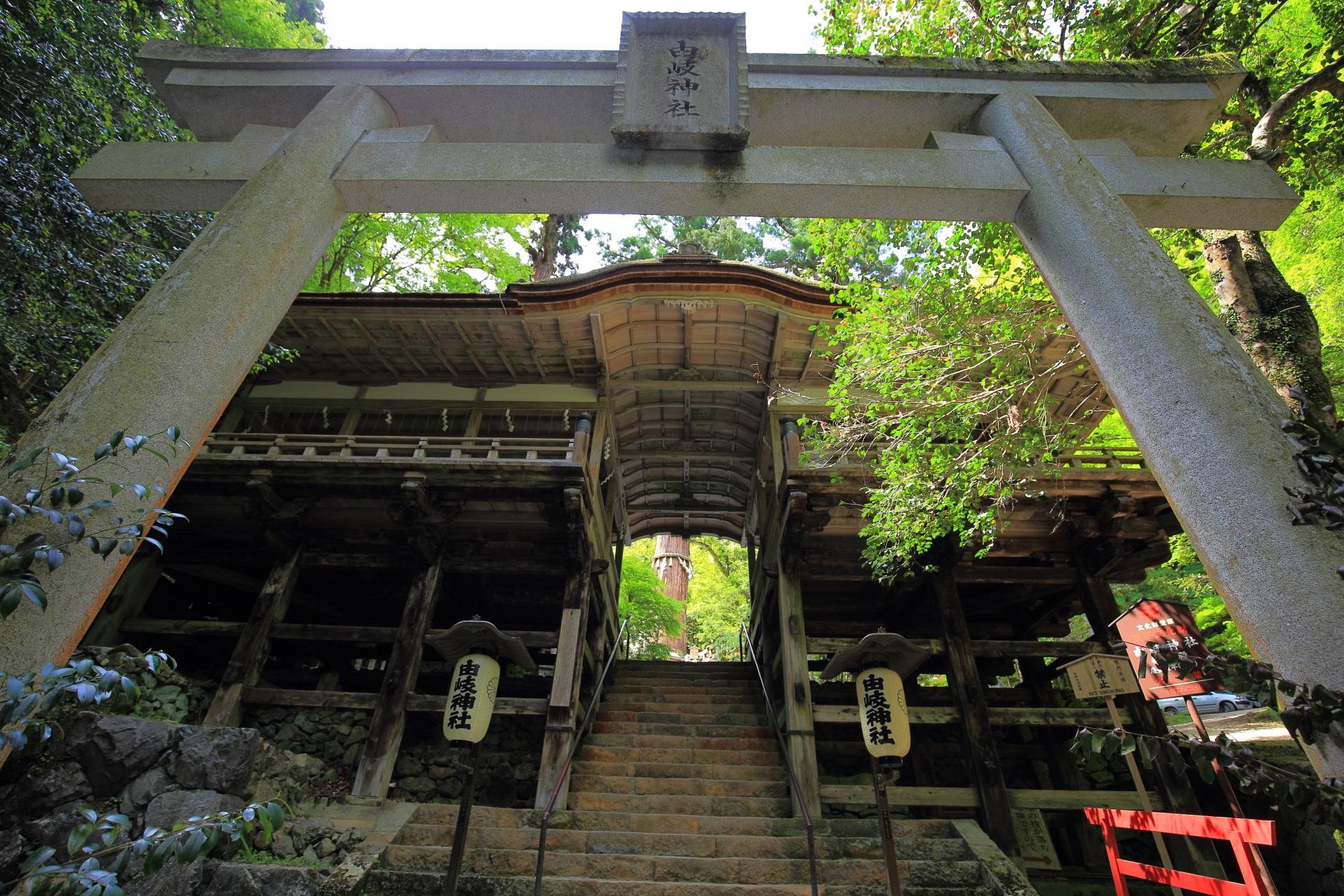 鞍馬山の由岐神社の拝殿