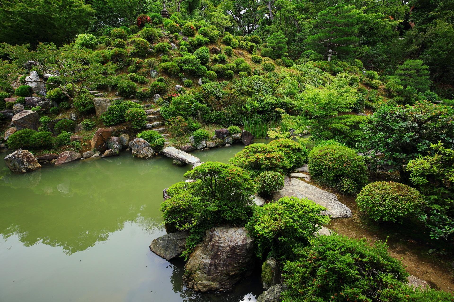 緑につつまれた名勝庭園