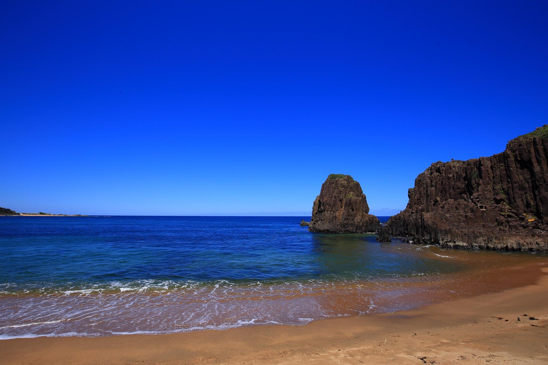 本当に青い空と海がある京丹後の間人