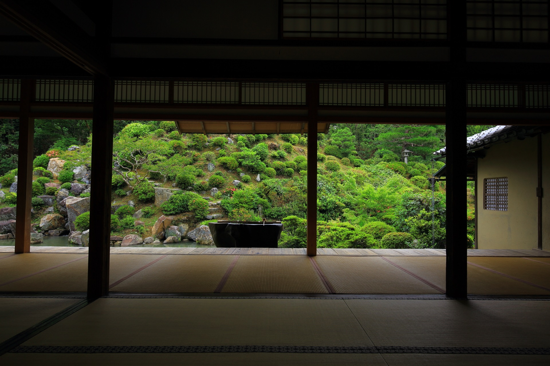 Rikyu favorite garden of Chishakuin-Temple in Kyoto,Japan