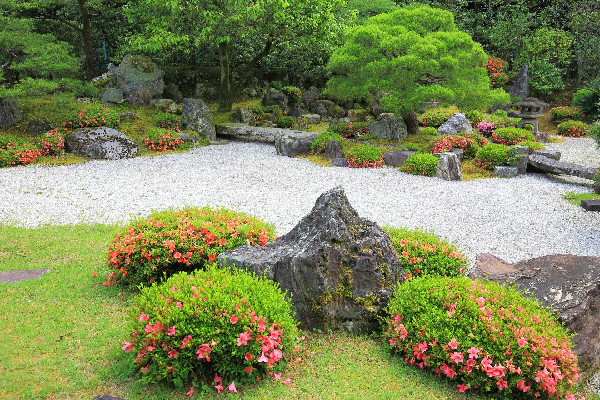 友禅苑の素晴らしいサツキと春の情景