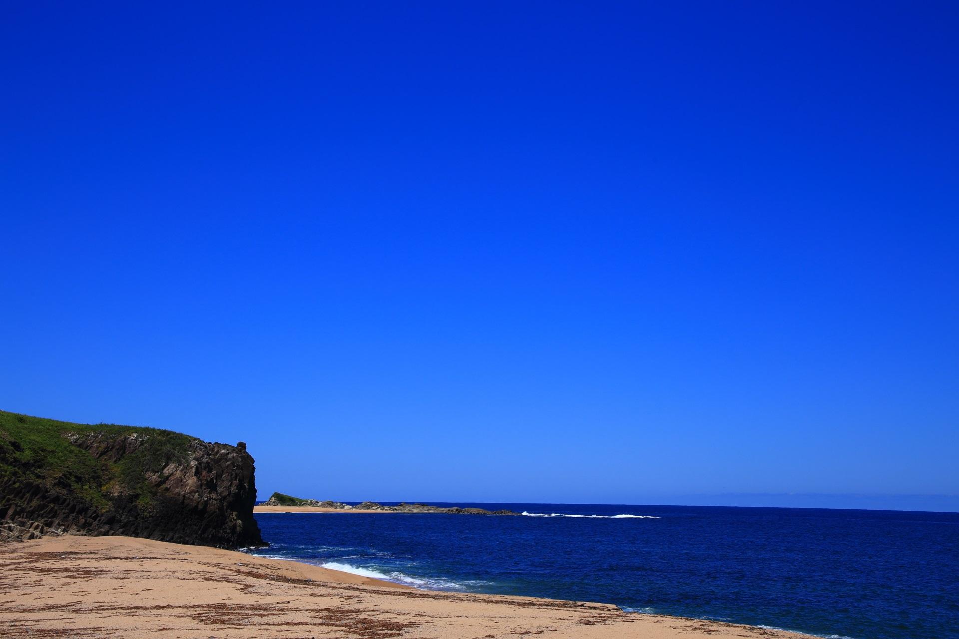 京丹後の後ヶ浜の西側の海岸と砂浜