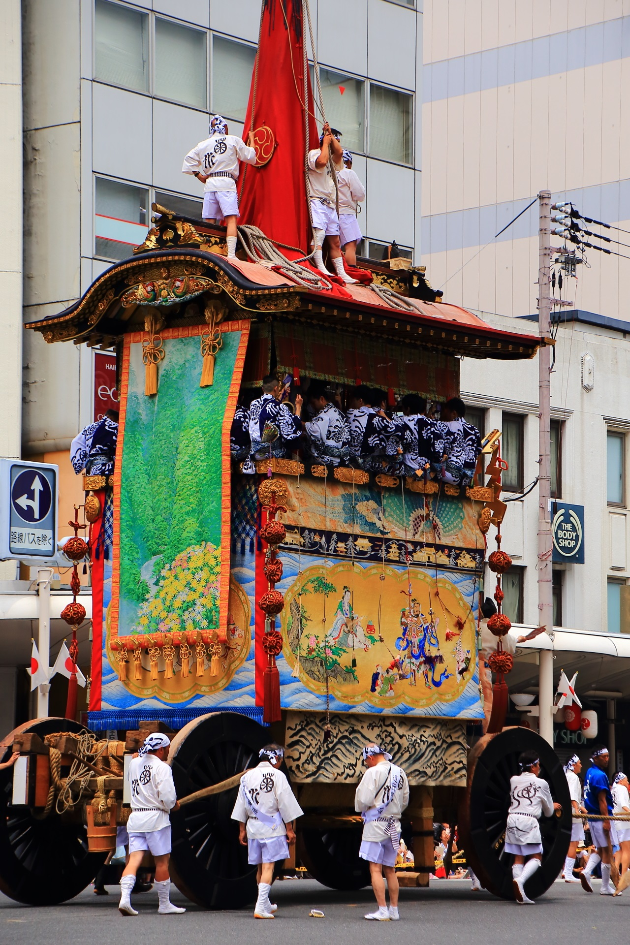 Yamahoko-Jyunko to be held at the Kyoto Gion-Matsuri Festival